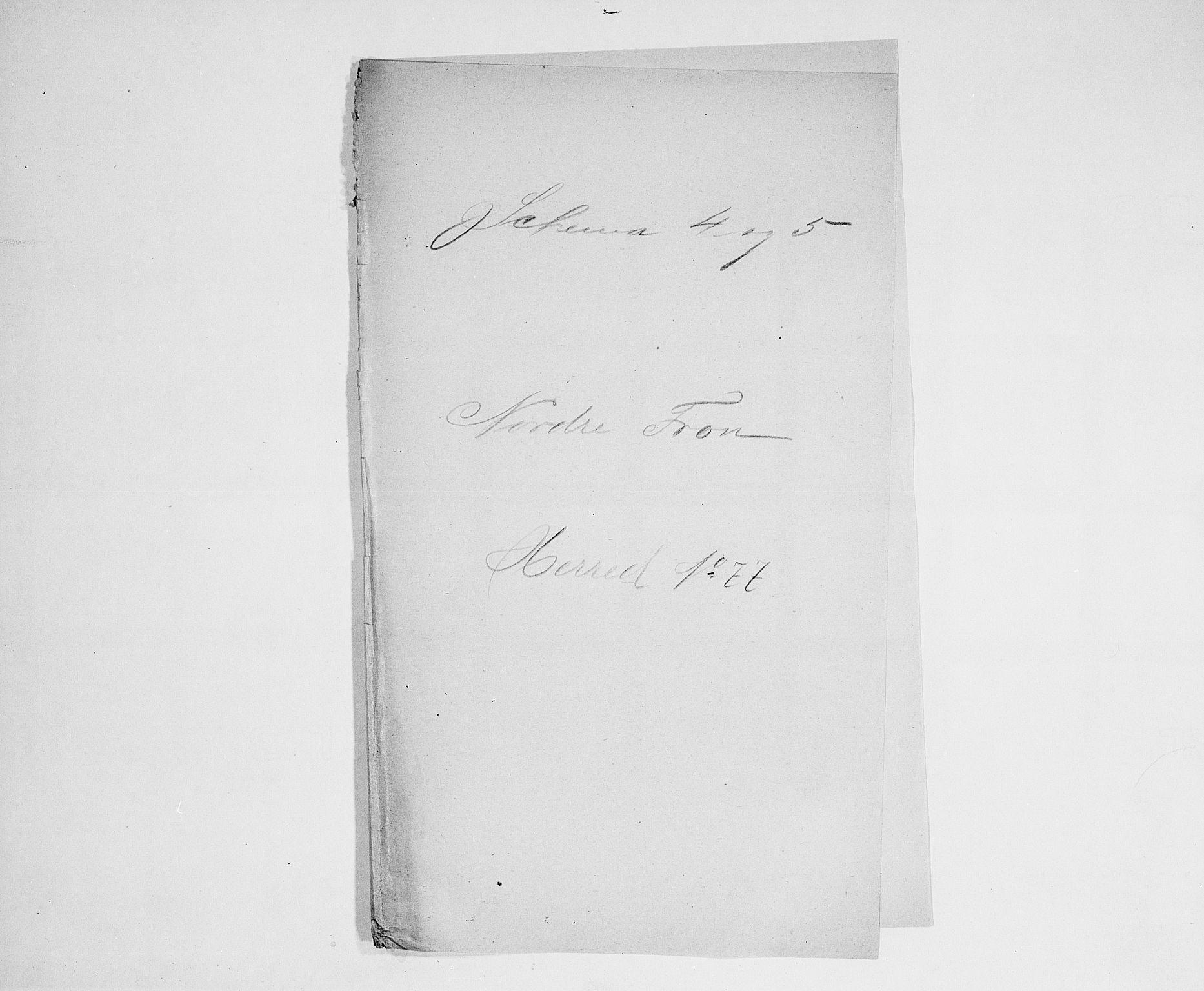 SAH, Folketelling 1900 for 0518 Nord-Fron herred, 1900, s. 1