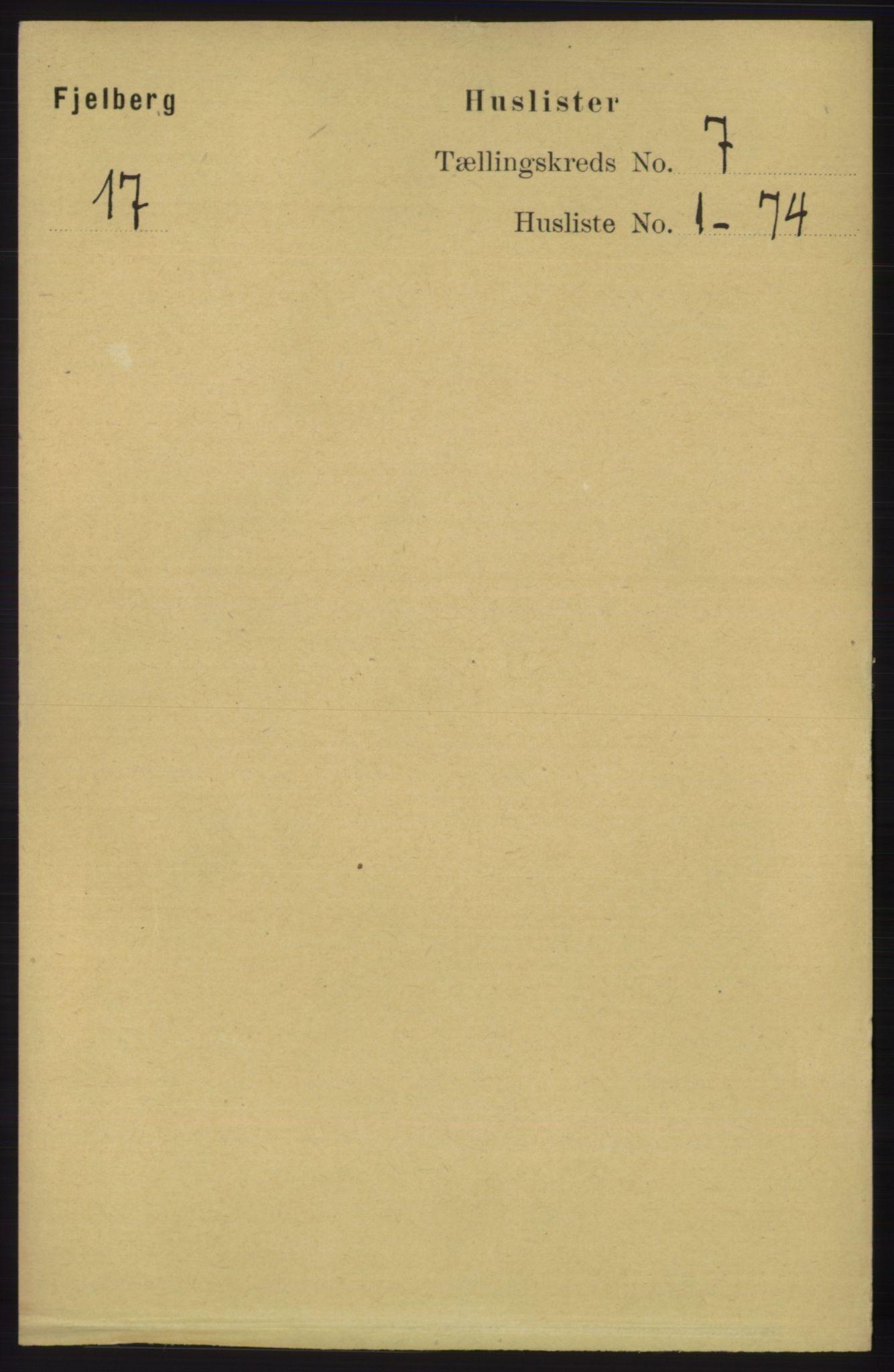 RA, Folketelling 1891 for 1213 Fjelberg herred, 1891, s. 2321