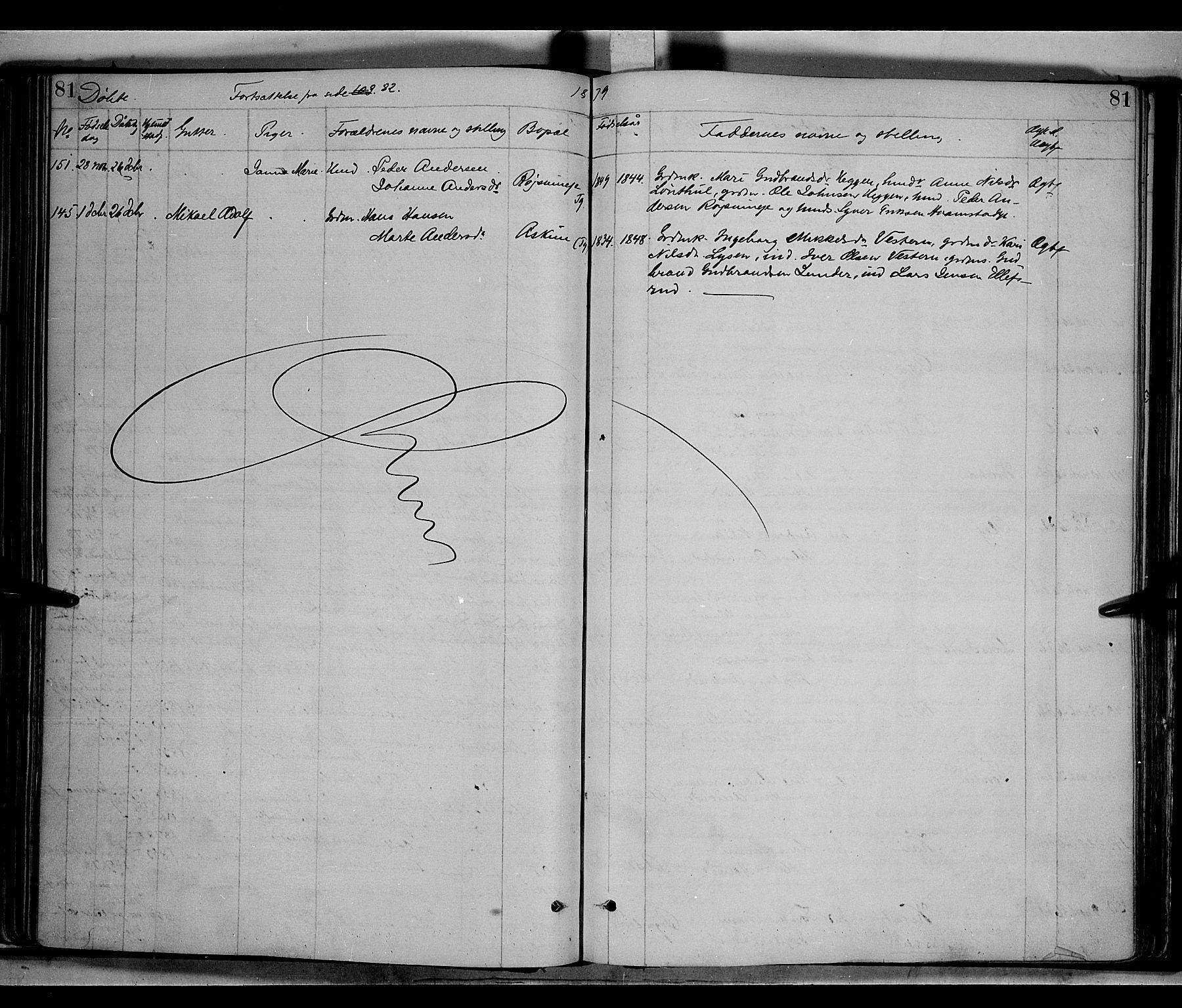 SAH, Gran prestekontor, Ministerialbok nr. 13, 1875-1879, s. 81