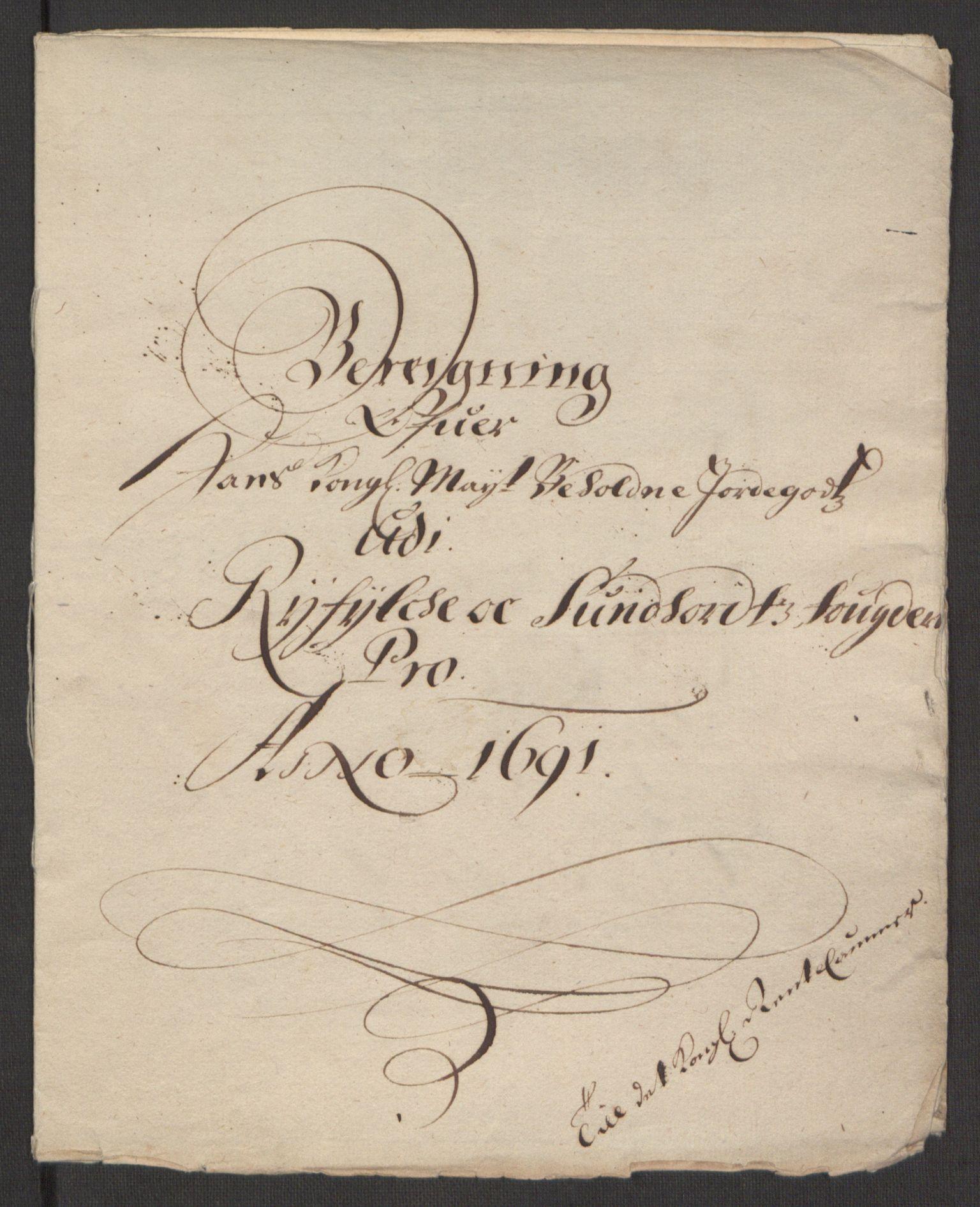 RA, Rentekammeret inntil 1814, Reviderte regnskaper, Fogderegnskap, R48/L2973: Fogderegnskap Sunnhordland og Hardanger, 1691-1692, s. 12