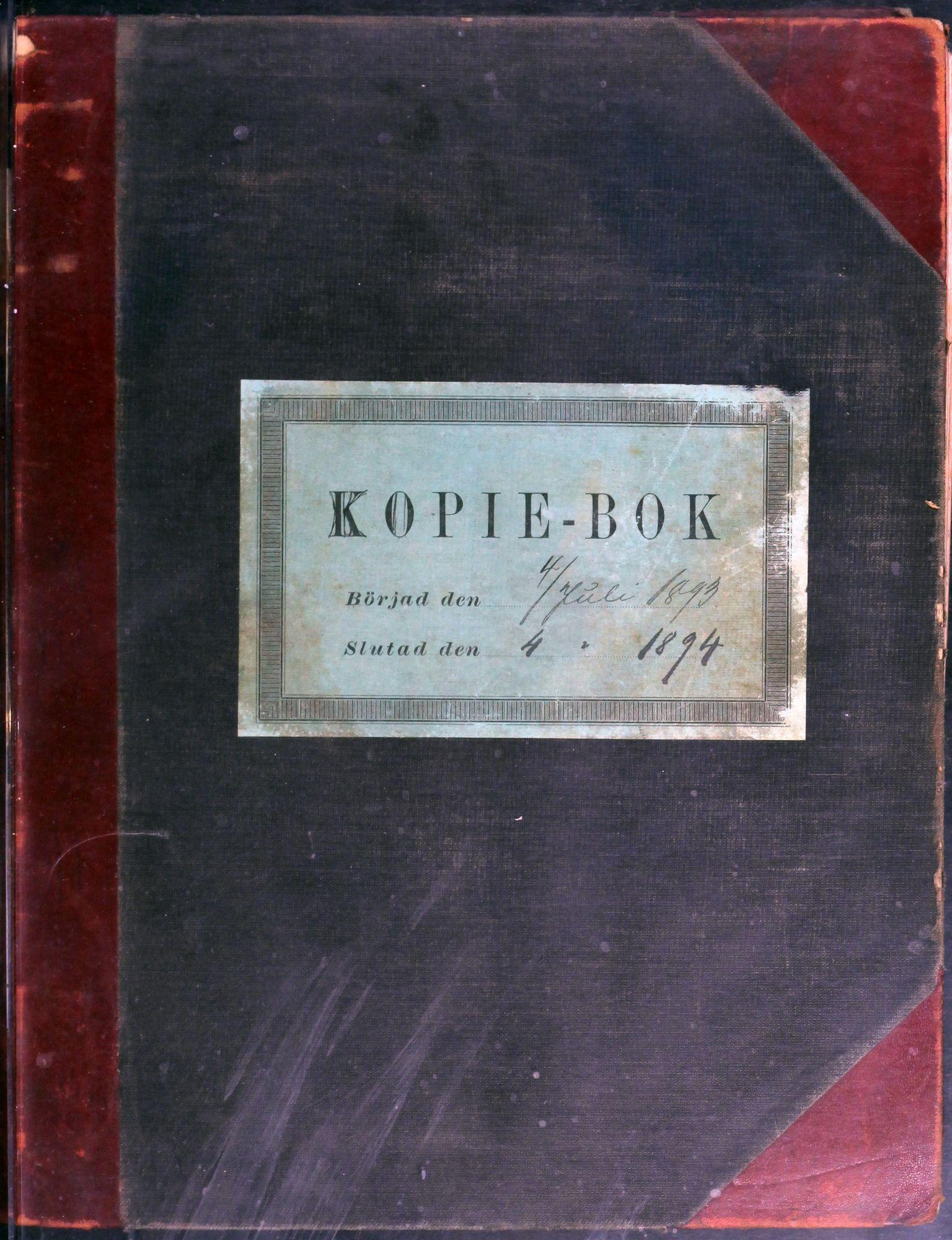 AIN, A/S Sulitjelma Gruber, B/Ba/L0006: Kopibok - Diverse adressater, 1893-1894