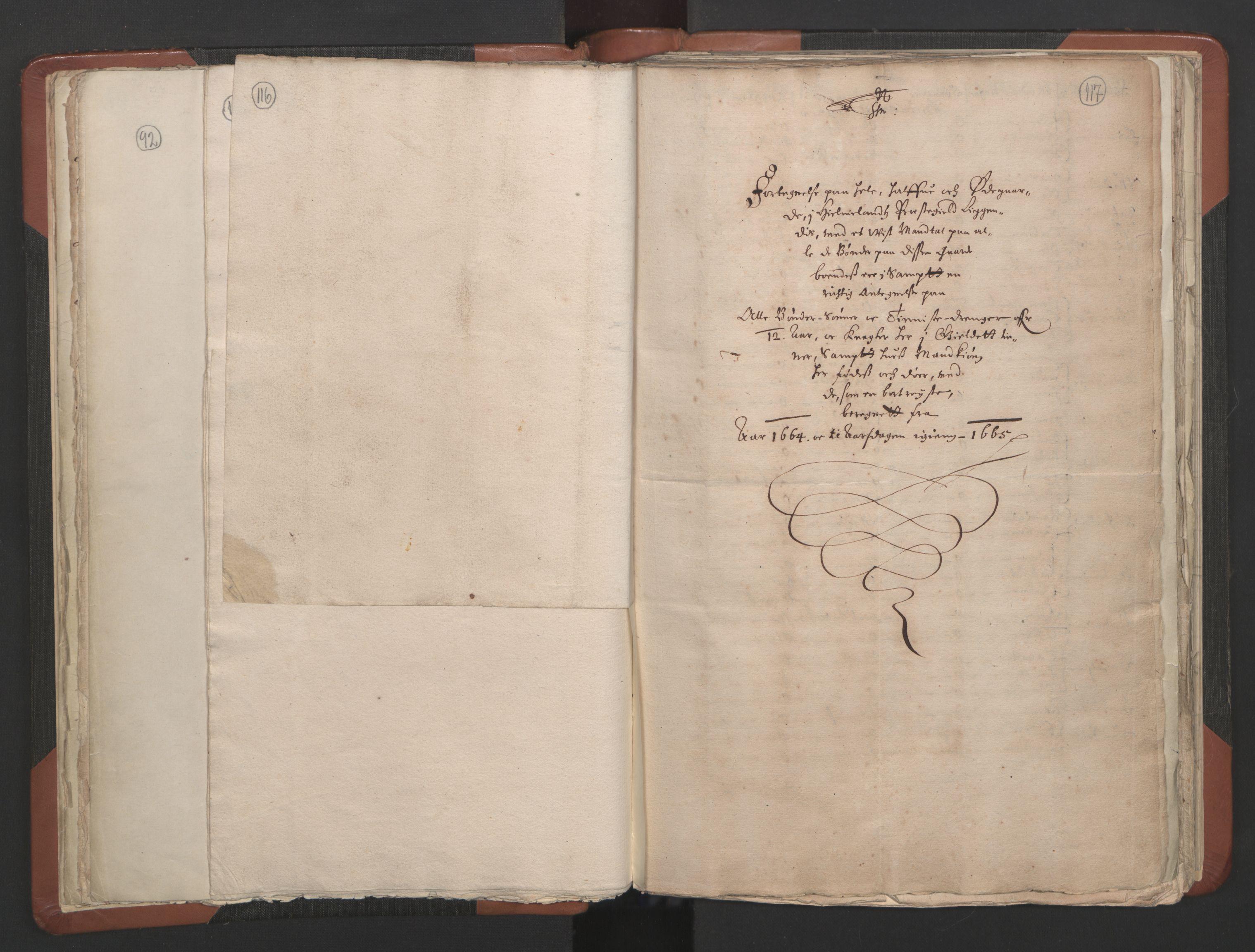 RA, Sogneprestenes manntall 1664-1666, nr. 19: Ryfylke prosti, 1664-1666, s. 116-117