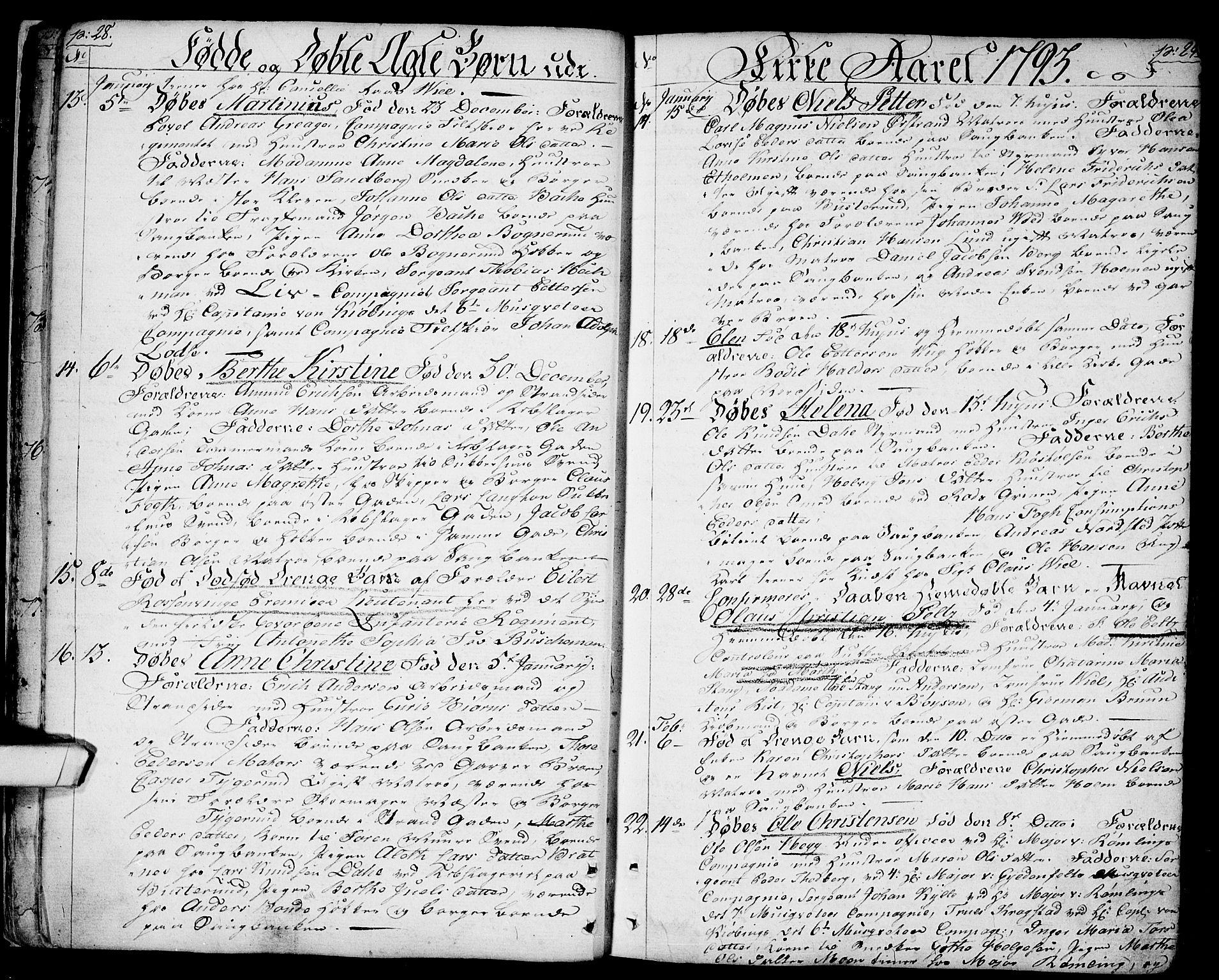 SAO, Halden prestekontor Kirkebøker, F/Fa/L0002: Ministerialbok nr. I 2, 1792-1812, s. 28-29