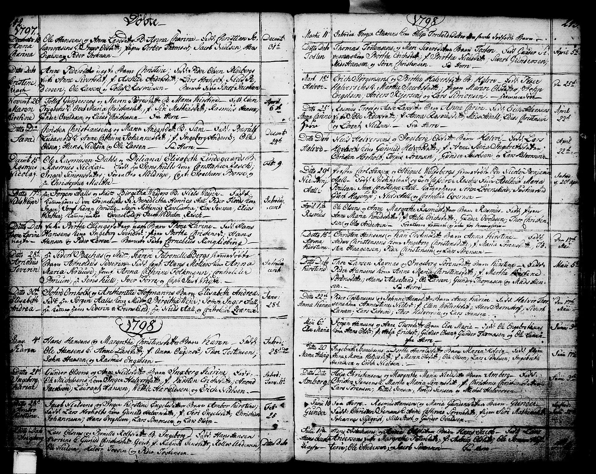 SAKO, Porsgrunn kirkebøker , F/Fa/L0002: Ministerialbok nr. 2, 1764-1814, s. 242-243