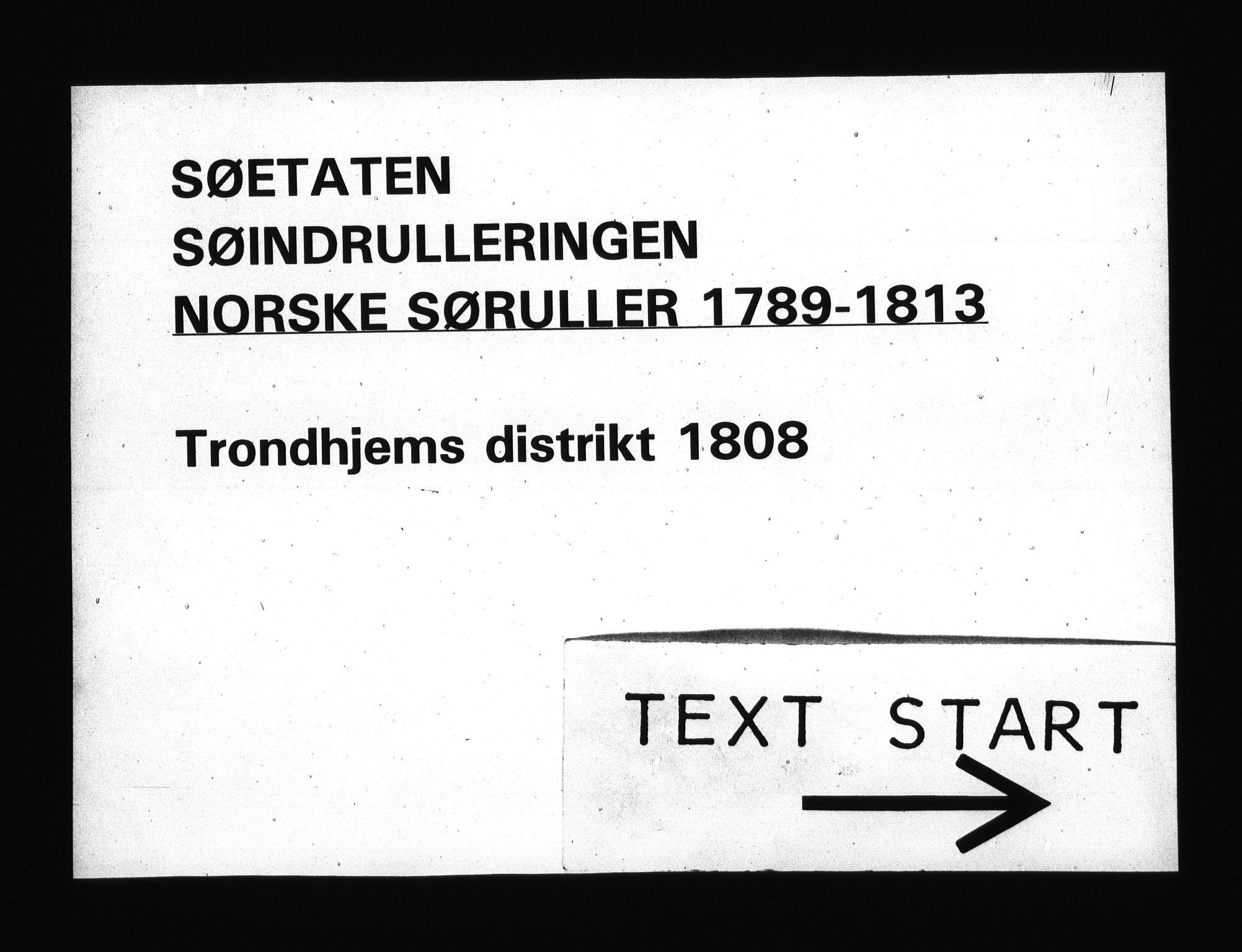 RA, Sjøetaten, F/L0335: Trondheim distrikt, bind 1, 1808