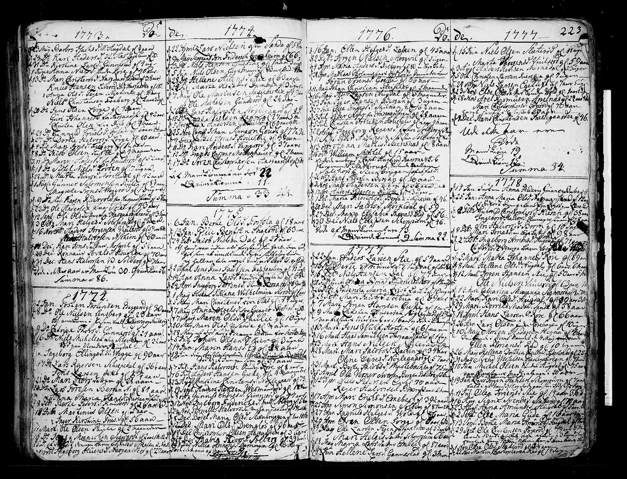 SAKO, Borre kirkebøker, F/Fa/L0002: Ministerialbok nr. I 2, 1752-1806, s. 223