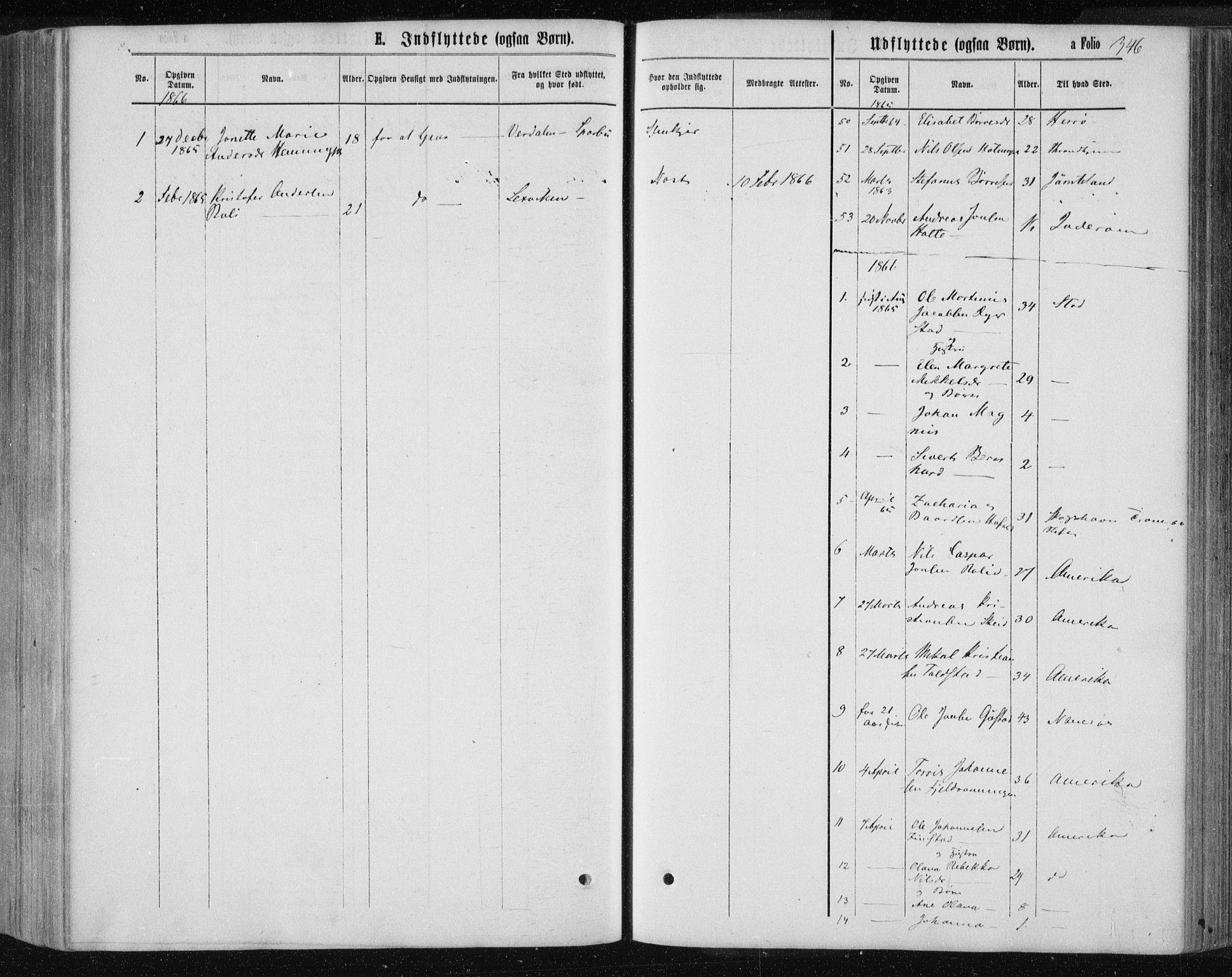 SAT, Ministerialprotokoller, klokkerbøker og fødselsregistre - Nord-Trøndelag, 735/L0345: Ministerialbok nr. 735A08 /1, 1863-1872, s. 346
