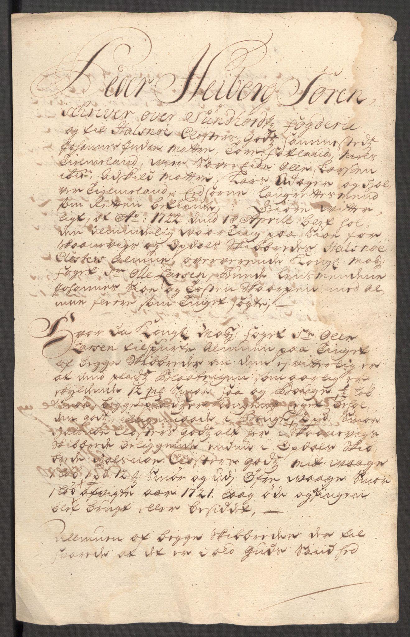 RA, Rentekammeret inntil 1814, Reviderte regnskaper, Fogderegnskap, R48/L3000: Fogderegnskap Sunnhordland og Hardanger, 1721, s. 397