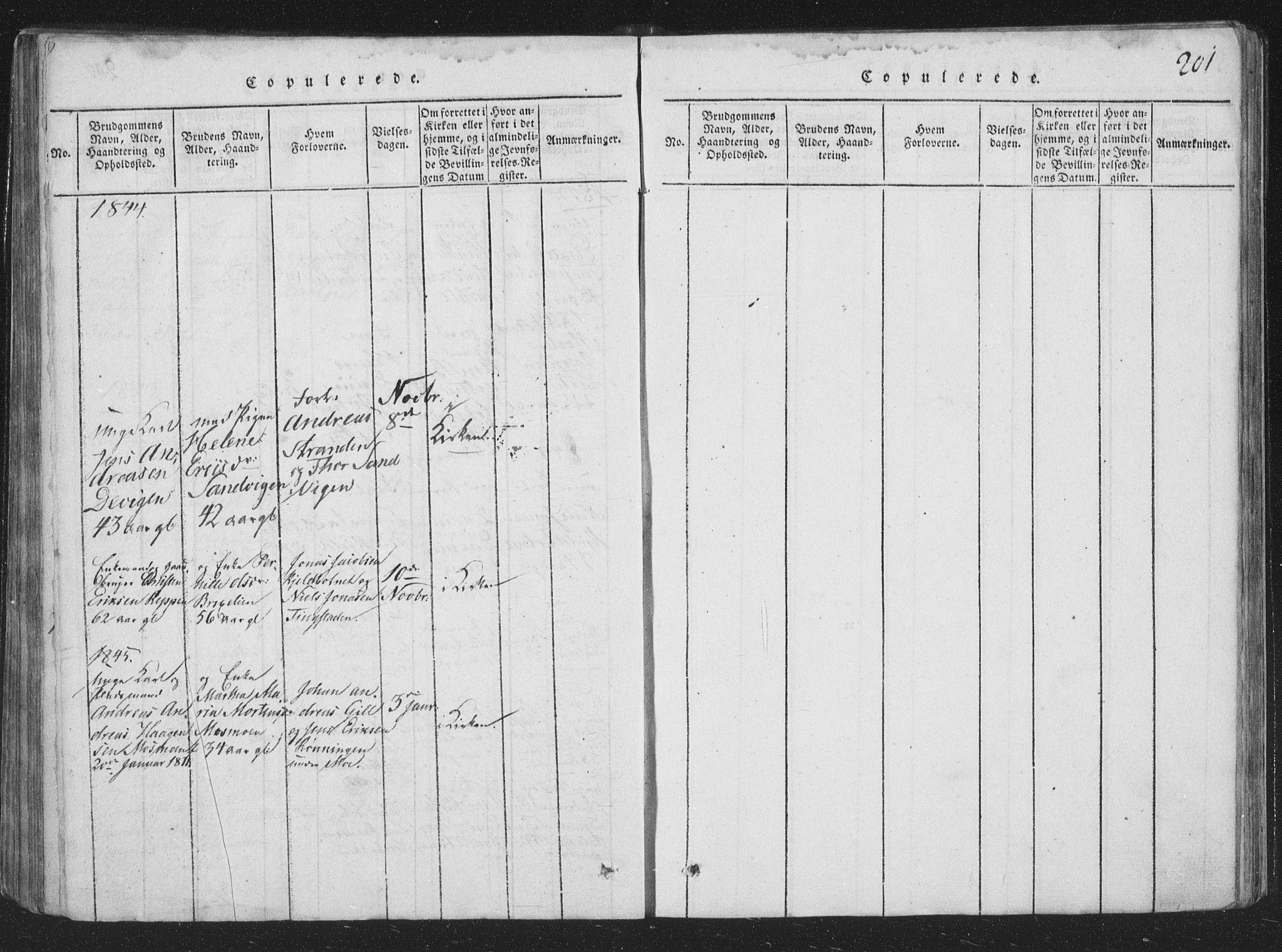 SAT, Ministerialprotokoller, klokkerbøker og fødselsregistre - Nord-Trøndelag, 773/L0613: Ministerialbok nr. 773A04, 1815-1845, s. 201