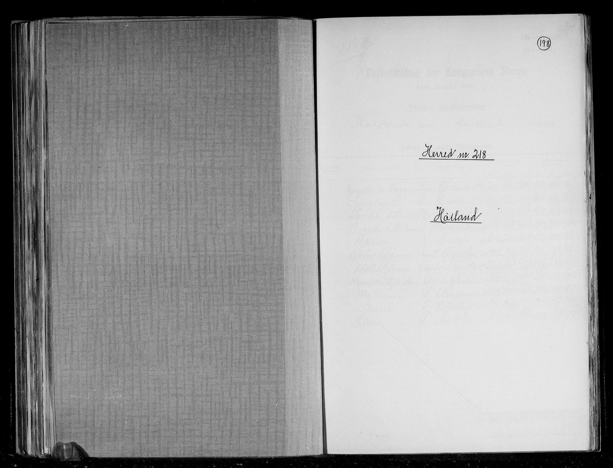 RA, Folketelling 1891 for 1123 Høyland herred, 1891, s. 1