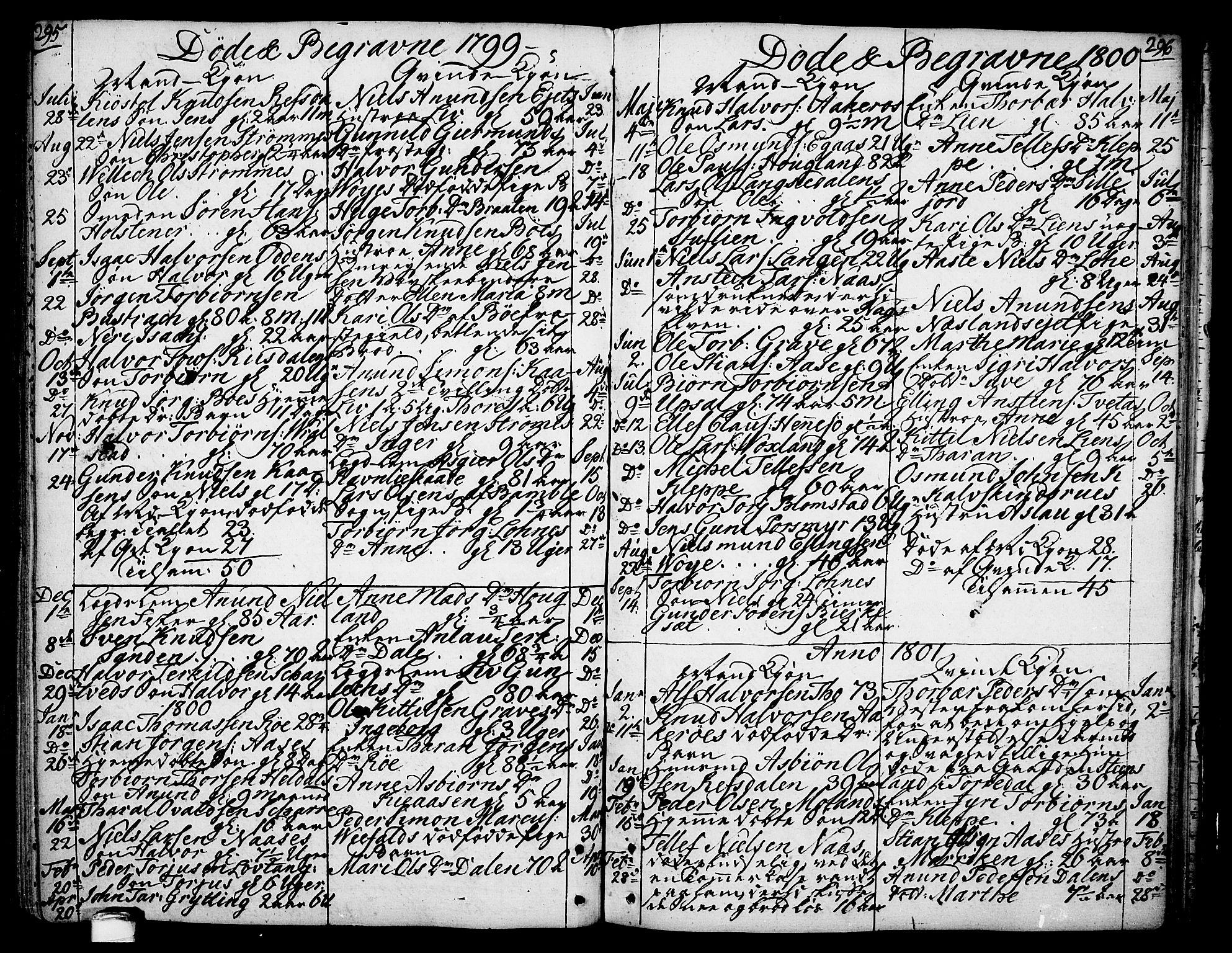 SAKO, Drangedal kirkebøker, F/Fa/L0003: Ministerialbok nr. 3, 1768-1814, s. 295-296