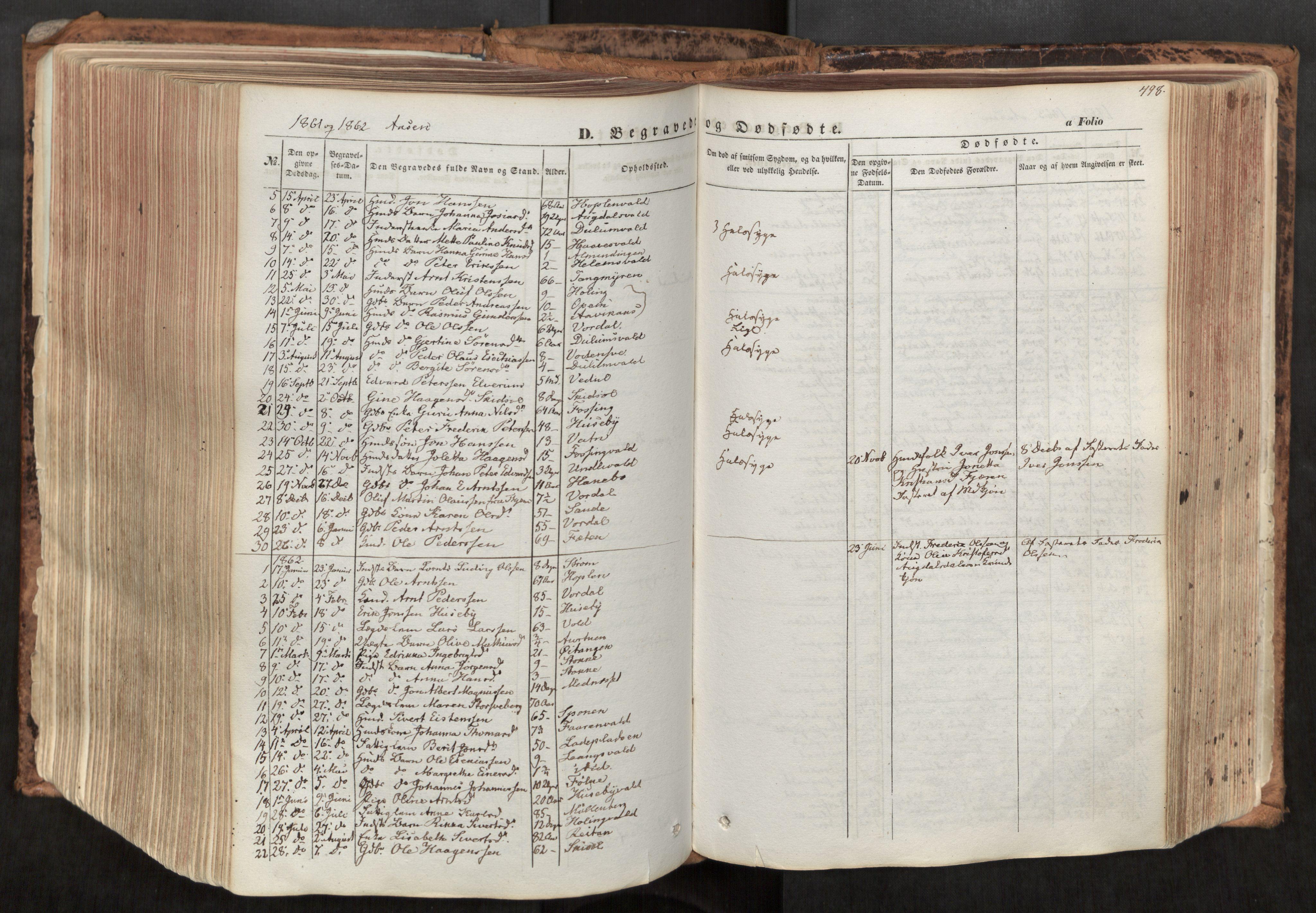 SAT, Ministerialprotokoller, klokkerbøker og fødselsregistre - Nord-Trøndelag, 713/L0116: Ministerialbok nr. 713A07, 1850-1877, s. 498