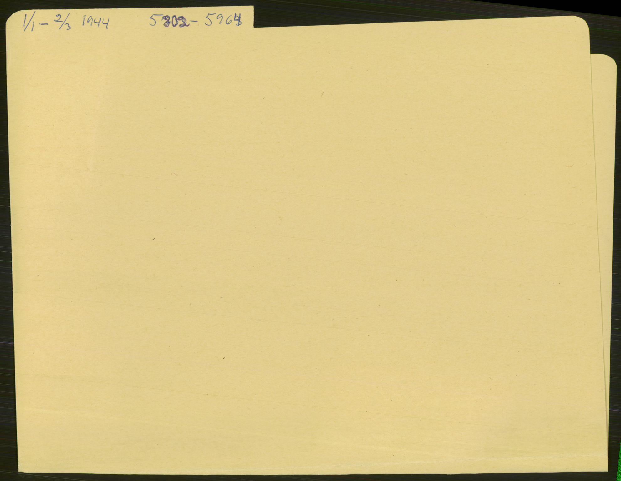 RA, Befehlshaber der Sicherheitspolizei und des SD, E/Ea/Eae/L0003: Einlieferungsschein 5802-6560, 1944