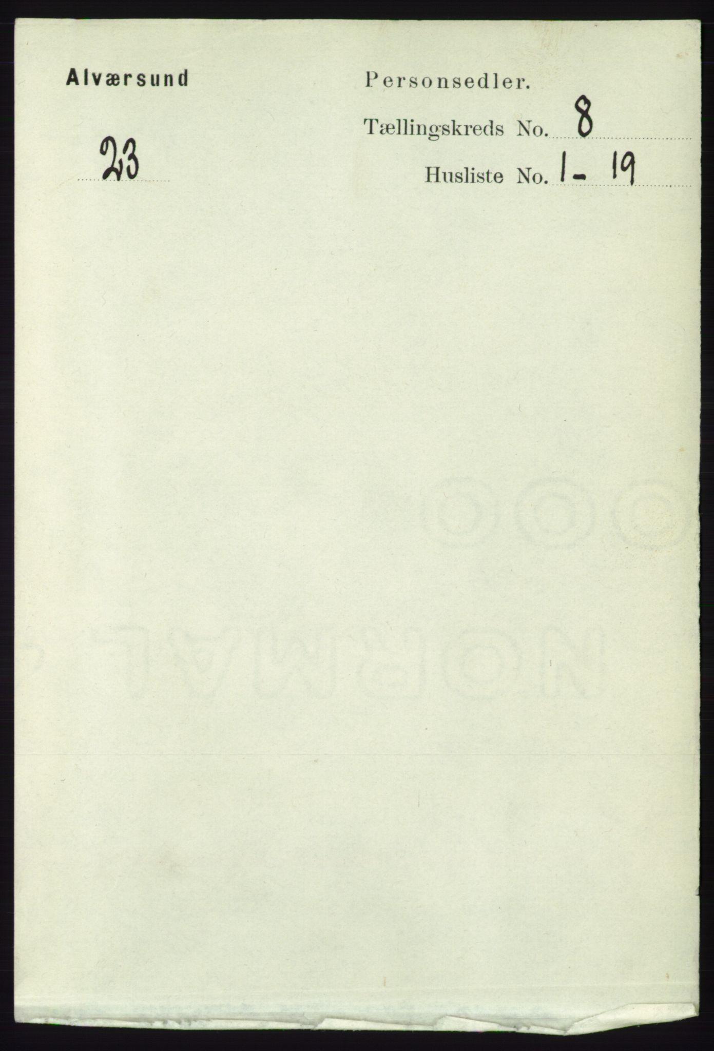 RA, Folketelling 1891 for 1257 Alversund herred, 1891, s. 2768