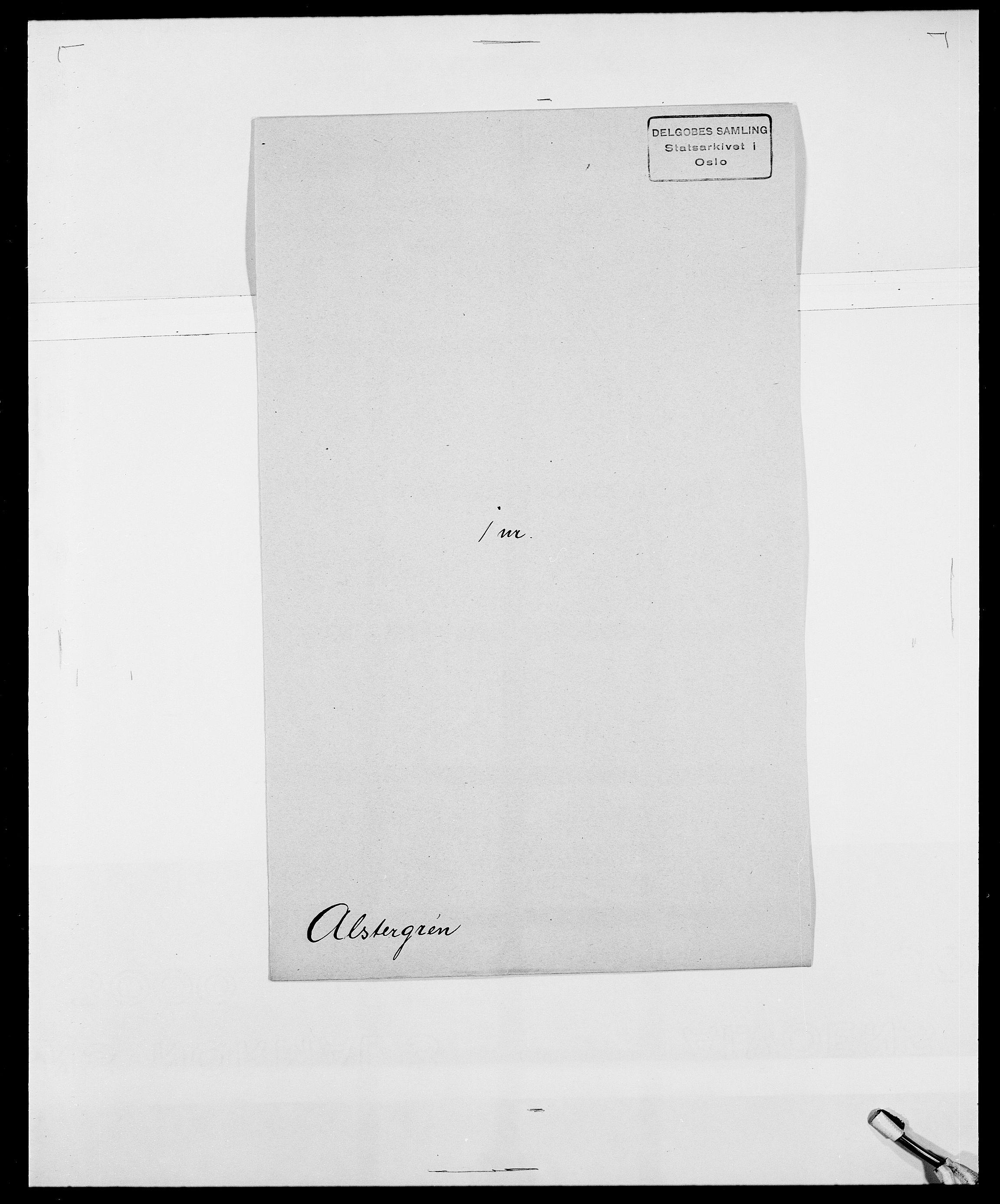 SAO, Delgobe, Charles Antoine - samling, D/Da/L0001: Aabye - Angerman, s. 471