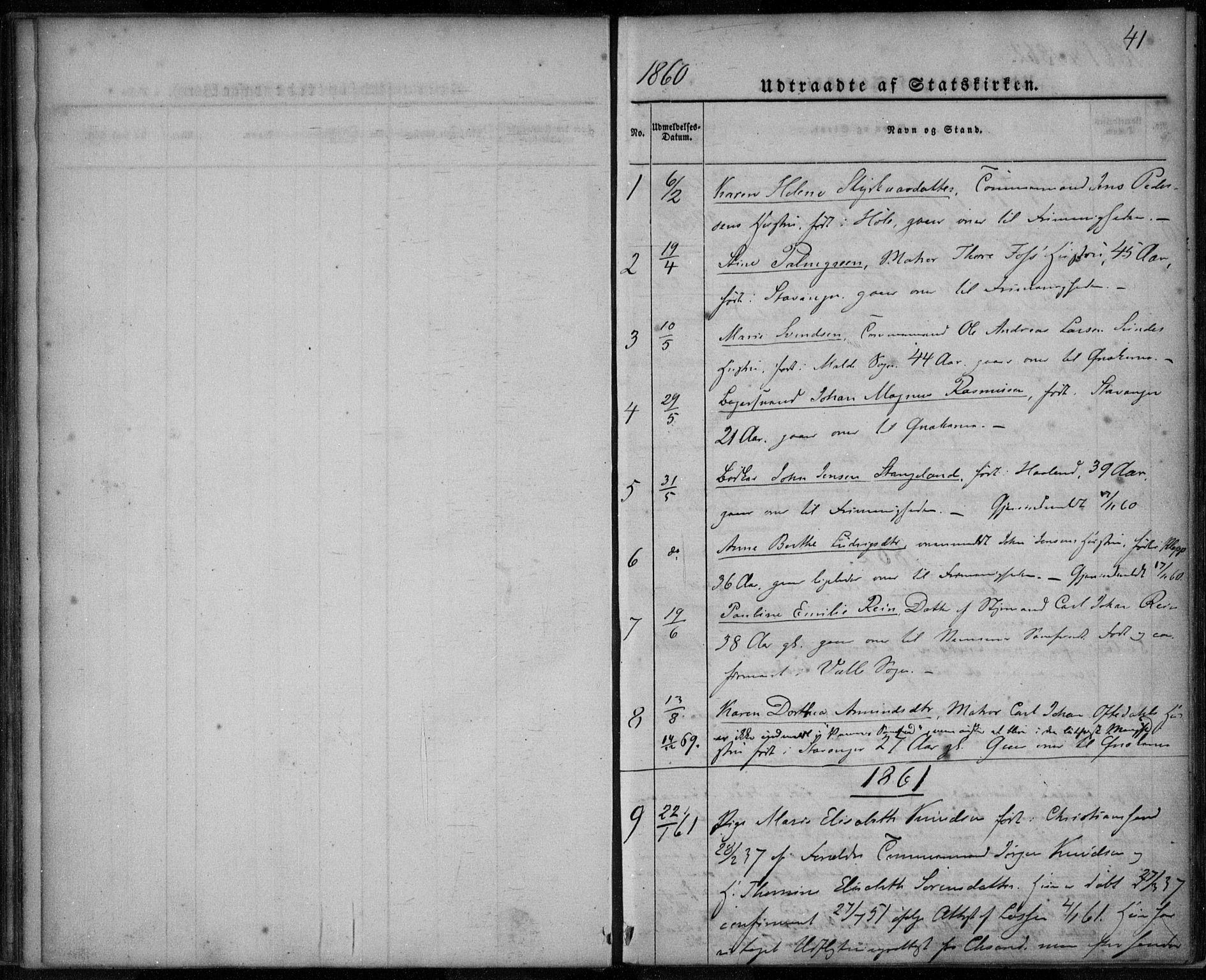 SAST, Domkirken sokneprestkontor, 30/30BA/L0021: Ministerialbok nr. A 20, 1860-1877, s. 41