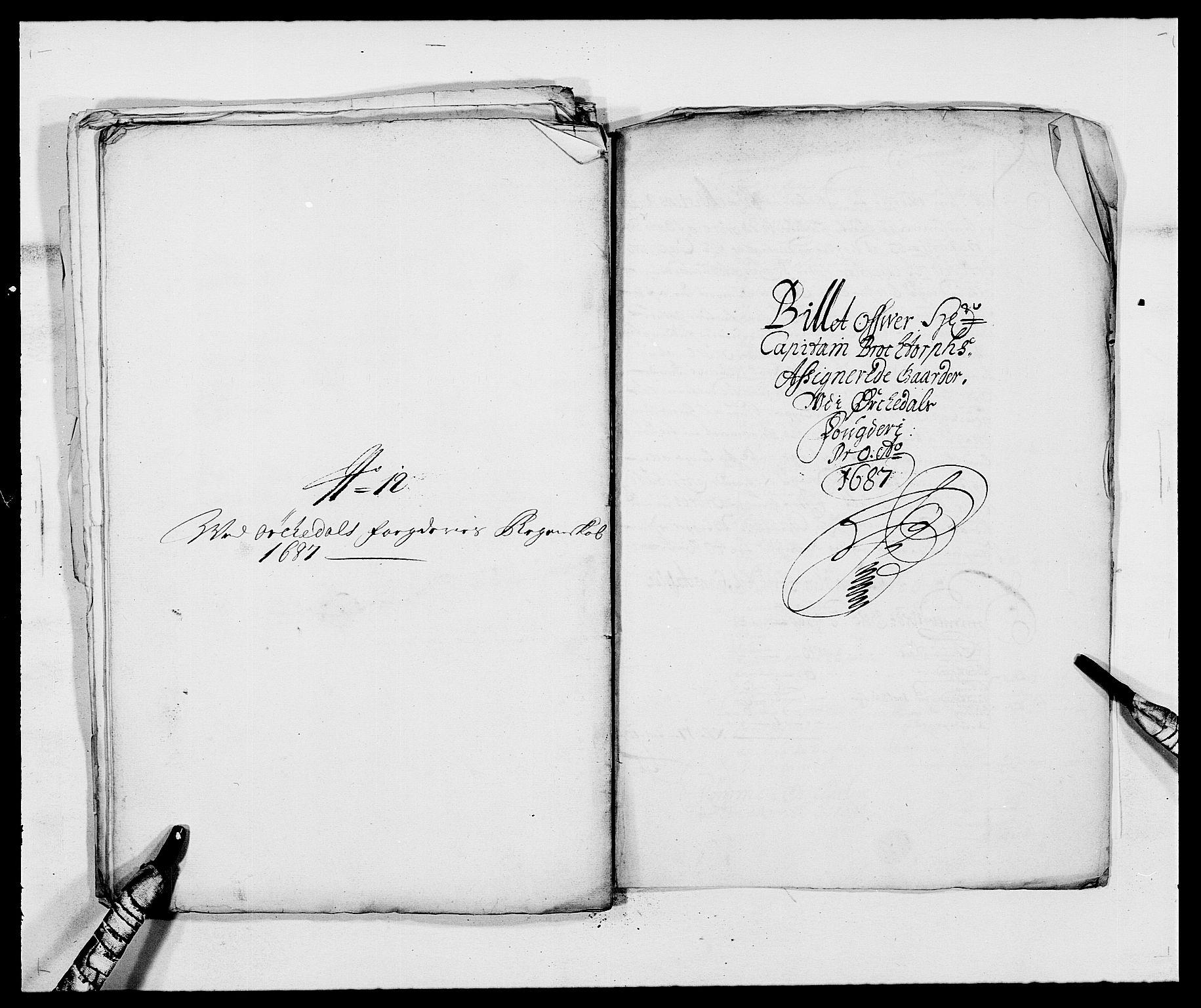 RA, Rentekammeret inntil 1814, Reviderte regnskaper, Fogderegnskap, R58/L3935: Fogderegnskap Orkdal, 1687-1688, s. 187