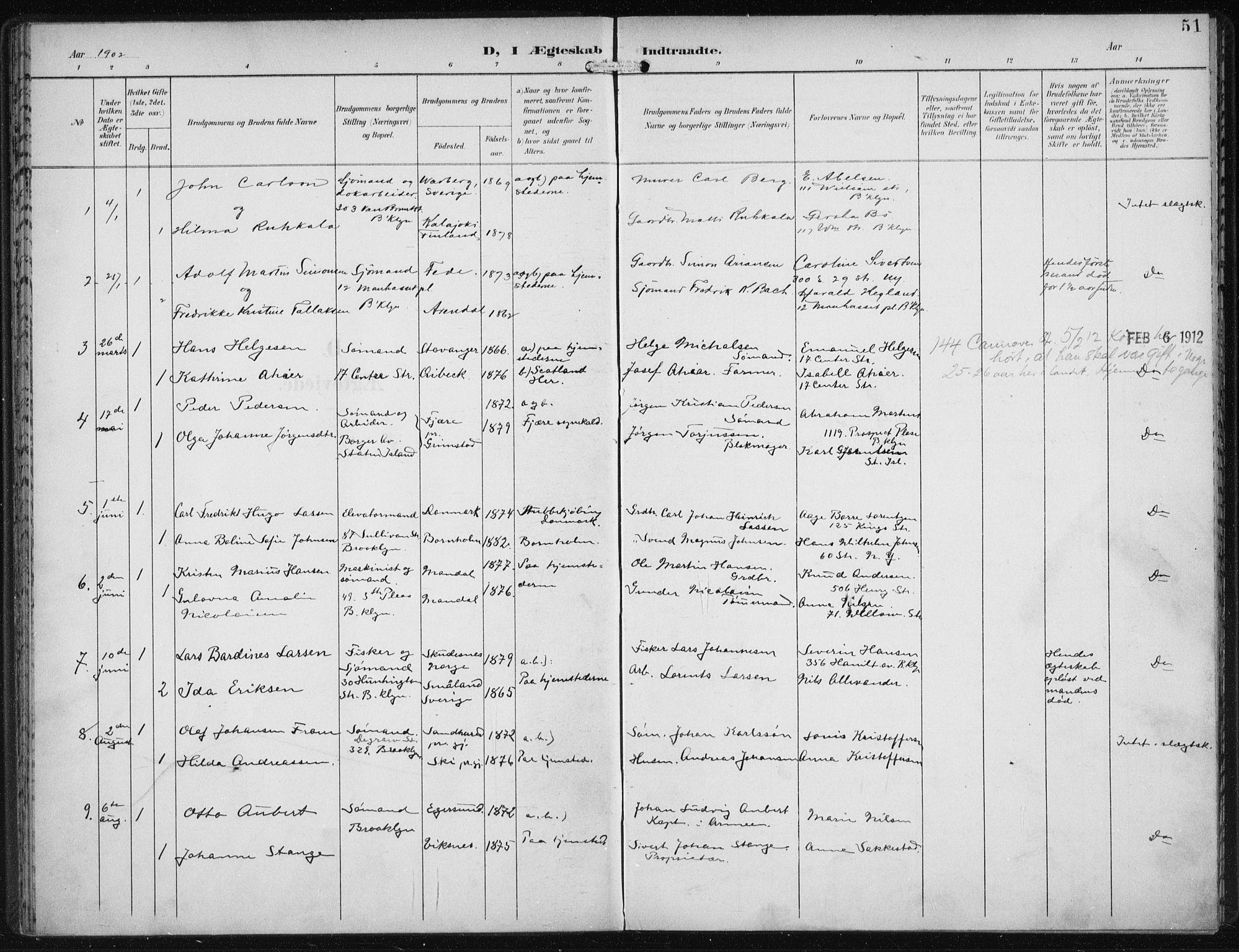 SAB, Den Norske Sjømannsmisjon i utlandet*, Ministerialbok nr. A 5, 1902-1908, s. 51