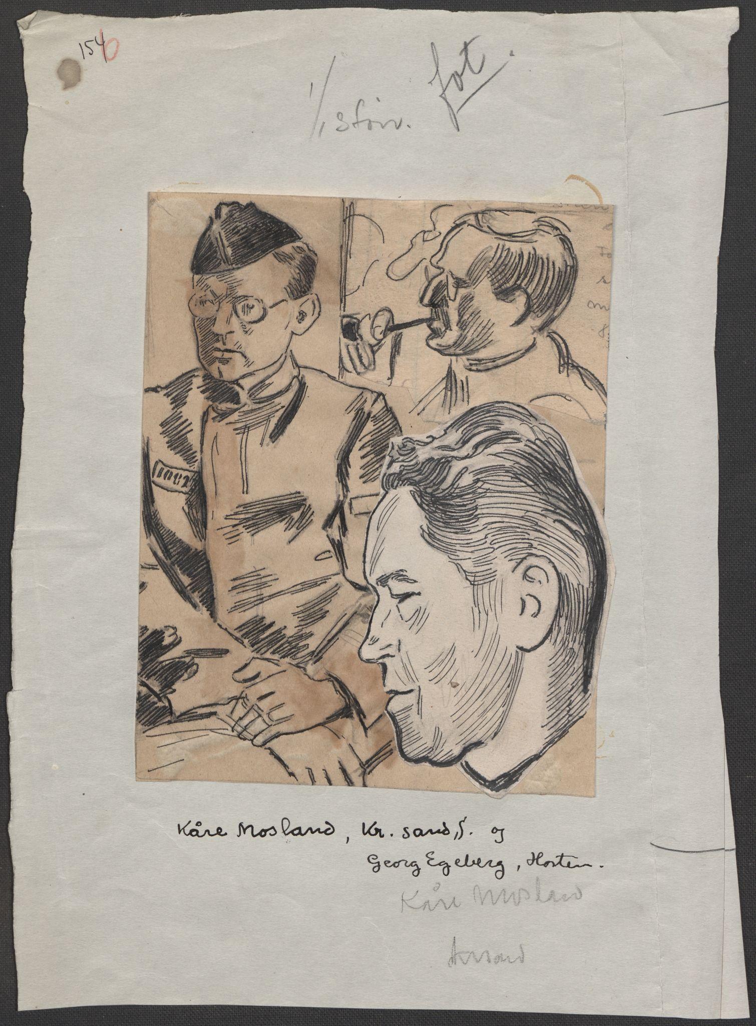 RA, Grøgaard, Joachim, F/L0002: Tegninger og tekster, 1942-1945, s. 78