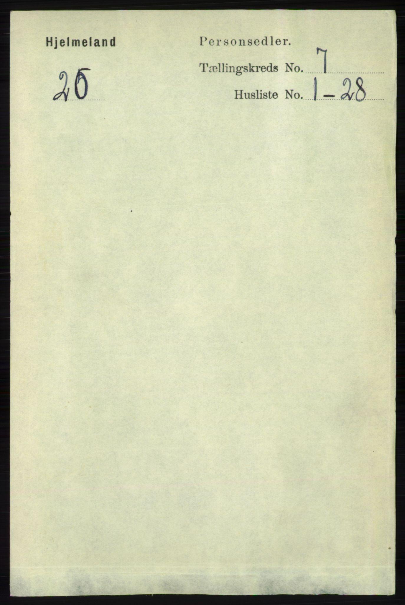 RA, Folketelling 1891 for 1133 Hjelmeland herred, 1891, s. 1948