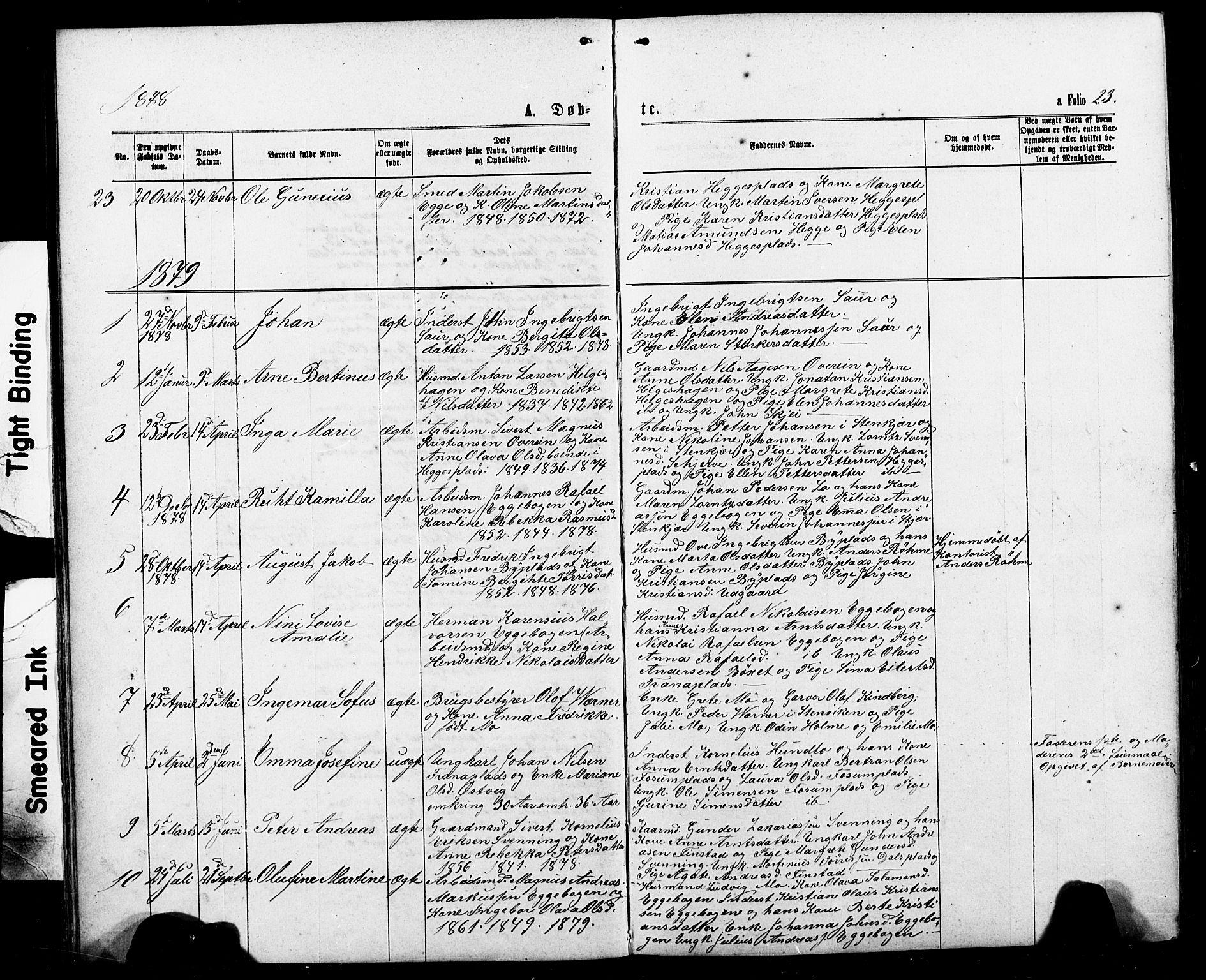 SAT, Ministerialprotokoller, klokkerbøker og fødselsregistre - Nord-Trøndelag, 740/L0380: Klokkerbok nr. 740C01, 1868-1902, s. 23
