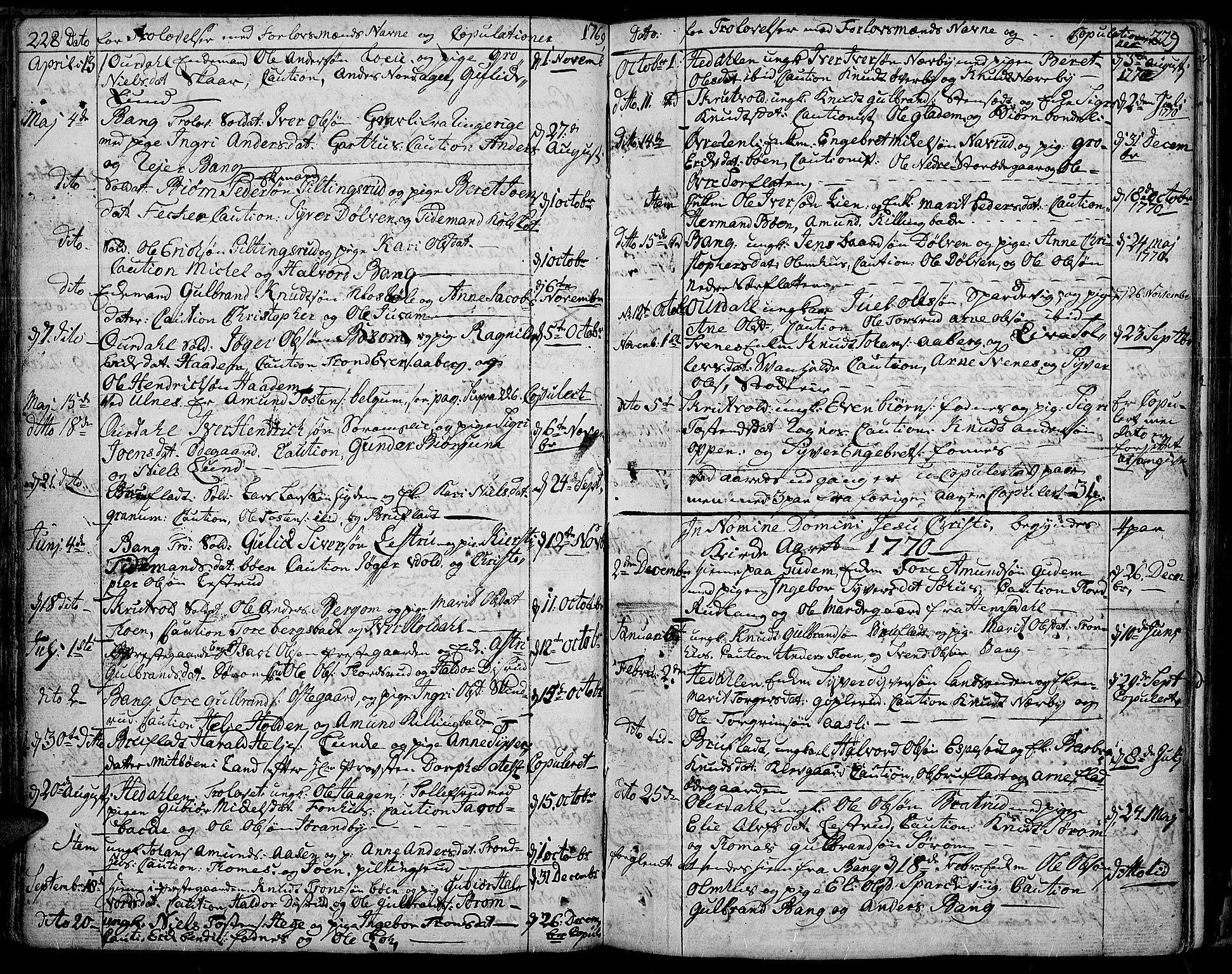 SAH, Aurdal prestekontor, Ministerialbok nr. 5, 1763-1781, s. 228-229