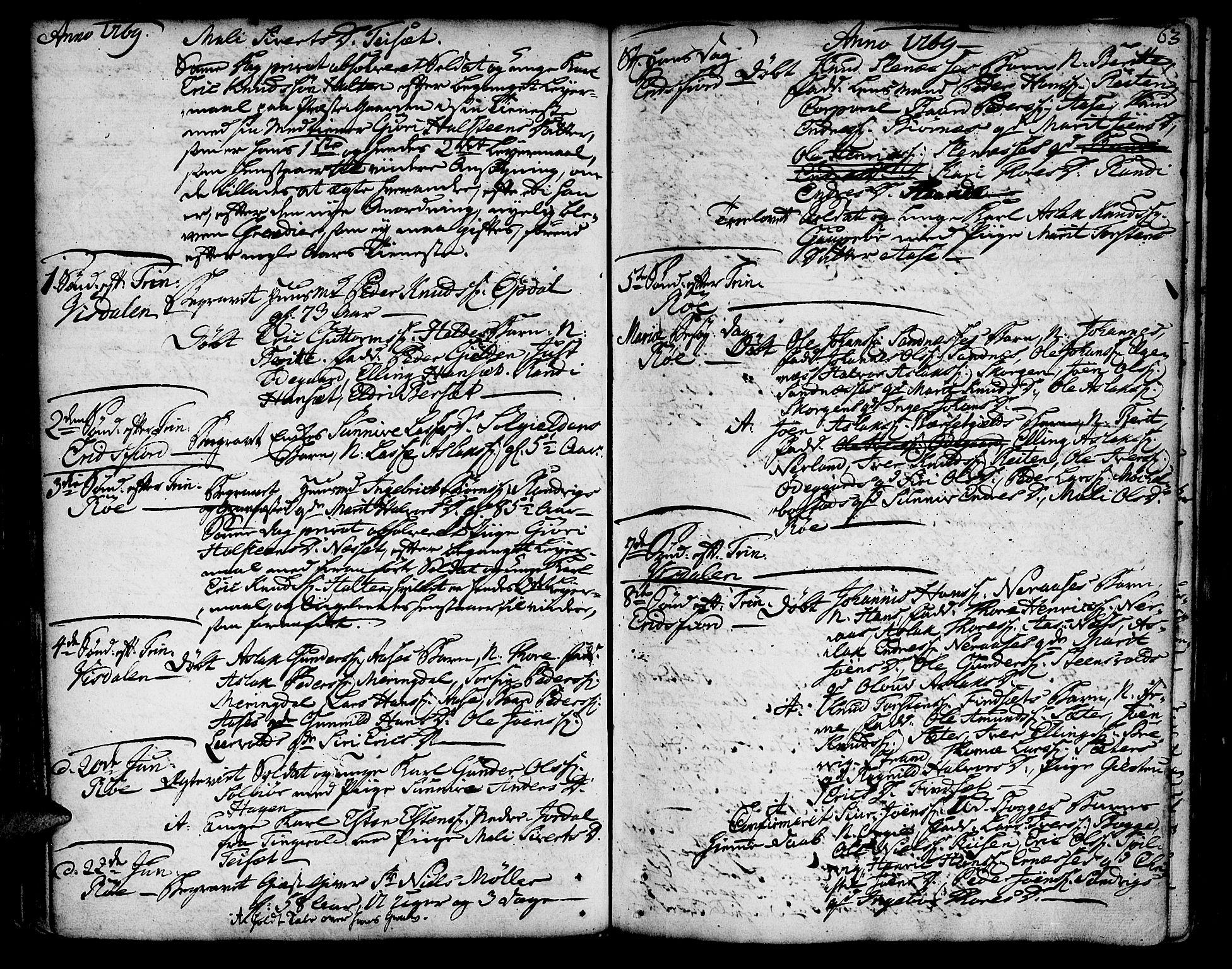 SAT, Ministerialprotokoller, klokkerbøker og fødselsregistre - Møre og Romsdal, 551/L0621: Ministerialbok nr. 551A01, 1757-1803, s. 63