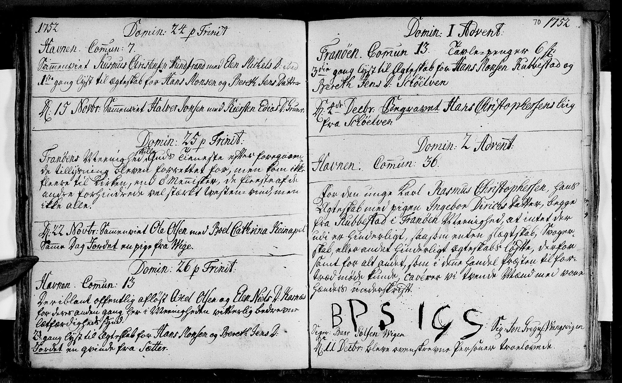 SATØ, Ibestad sokneprestembete, Ministerialbok nr. 1, 1744-1757, s. 70