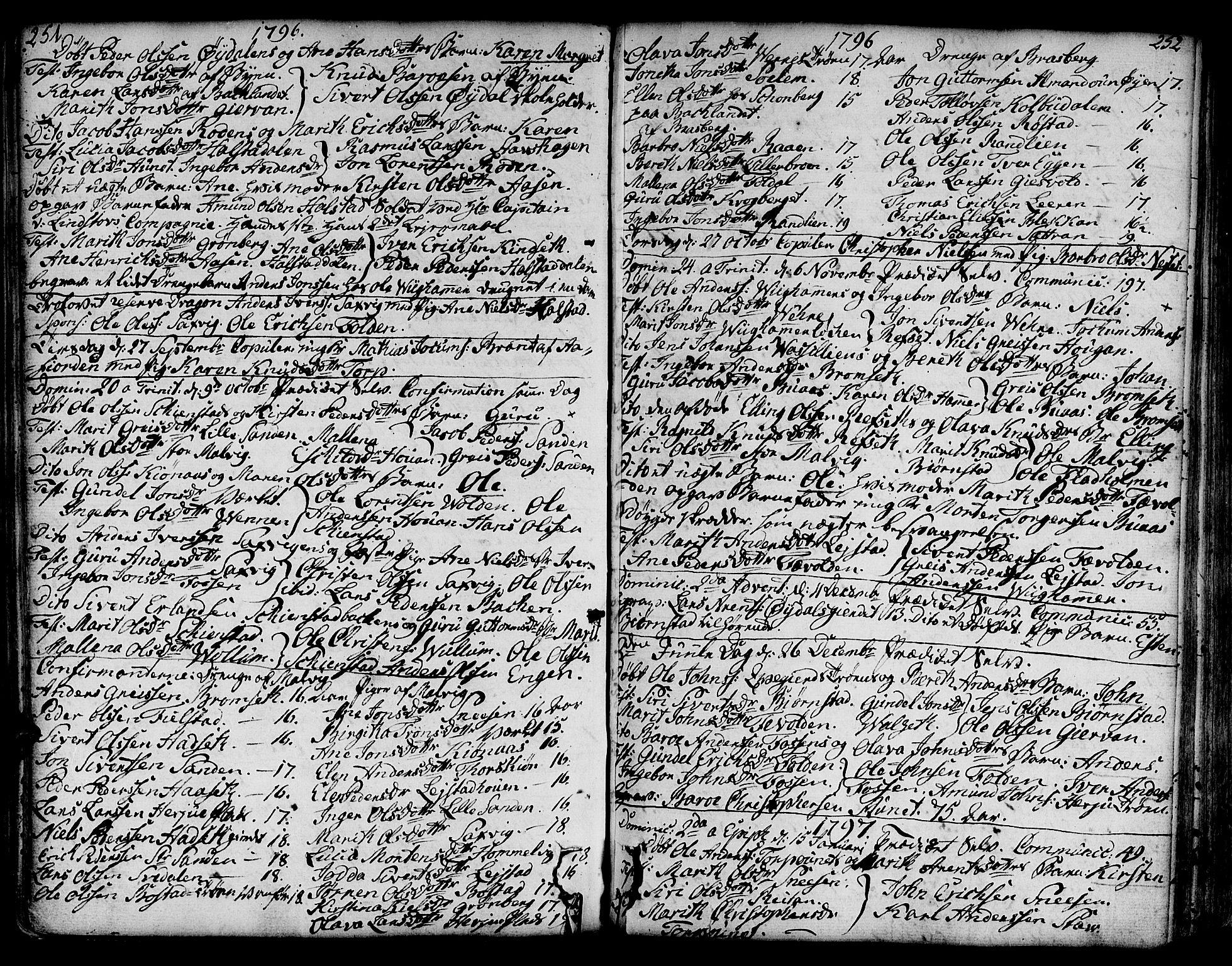 SAT, Ministerialprotokoller, klokkerbøker og fødselsregistre - Sør-Trøndelag, 606/L0281: Ministerialbok nr. 606A02 /2, 1781-1817, s. 251-252