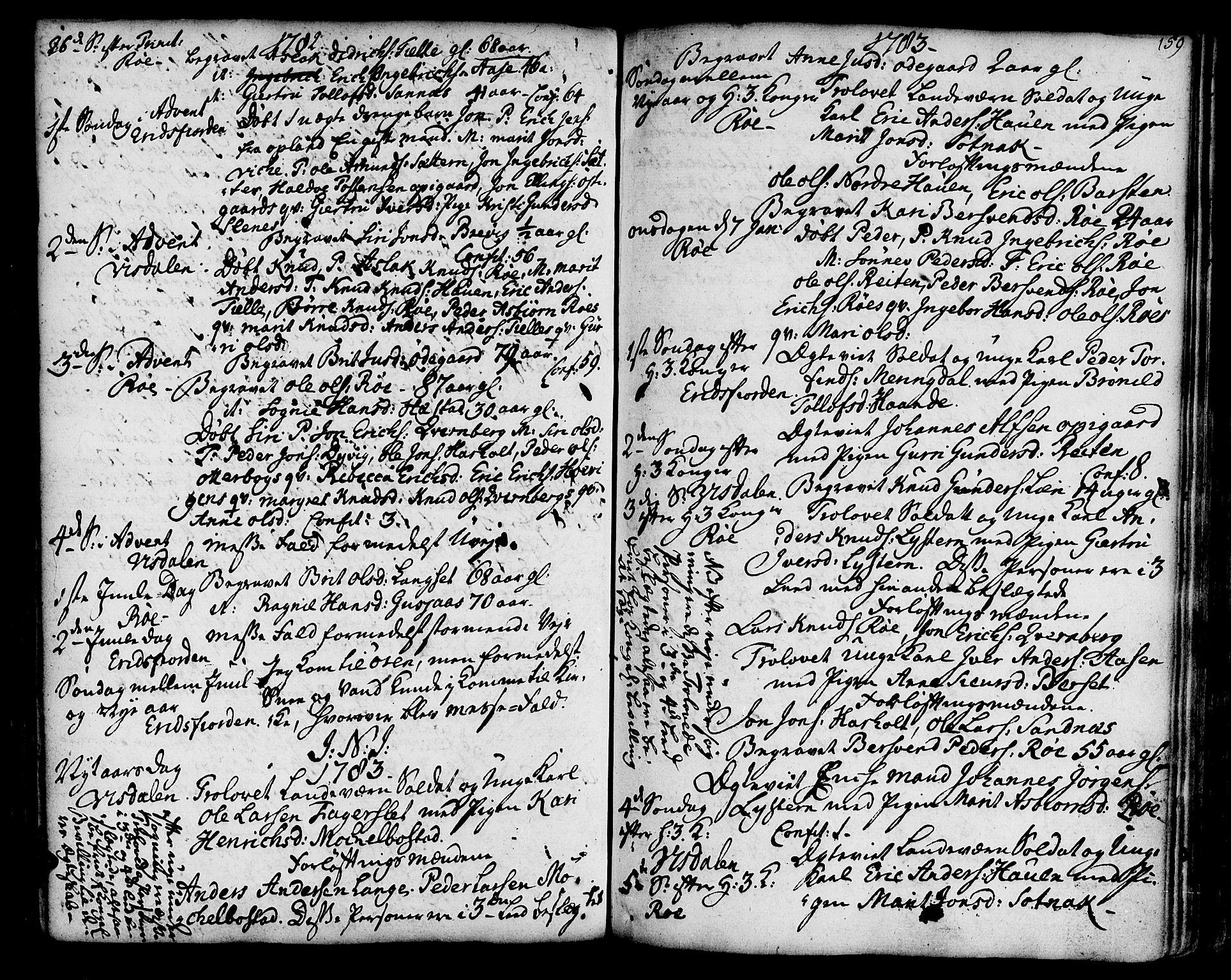 SAT, Ministerialprotokoller, klokkerbøker og fødselsregistre - Møre og Romsdal, 551/L0621: Ministerialbok nr. 551A01, 1757-1803, s. 159
