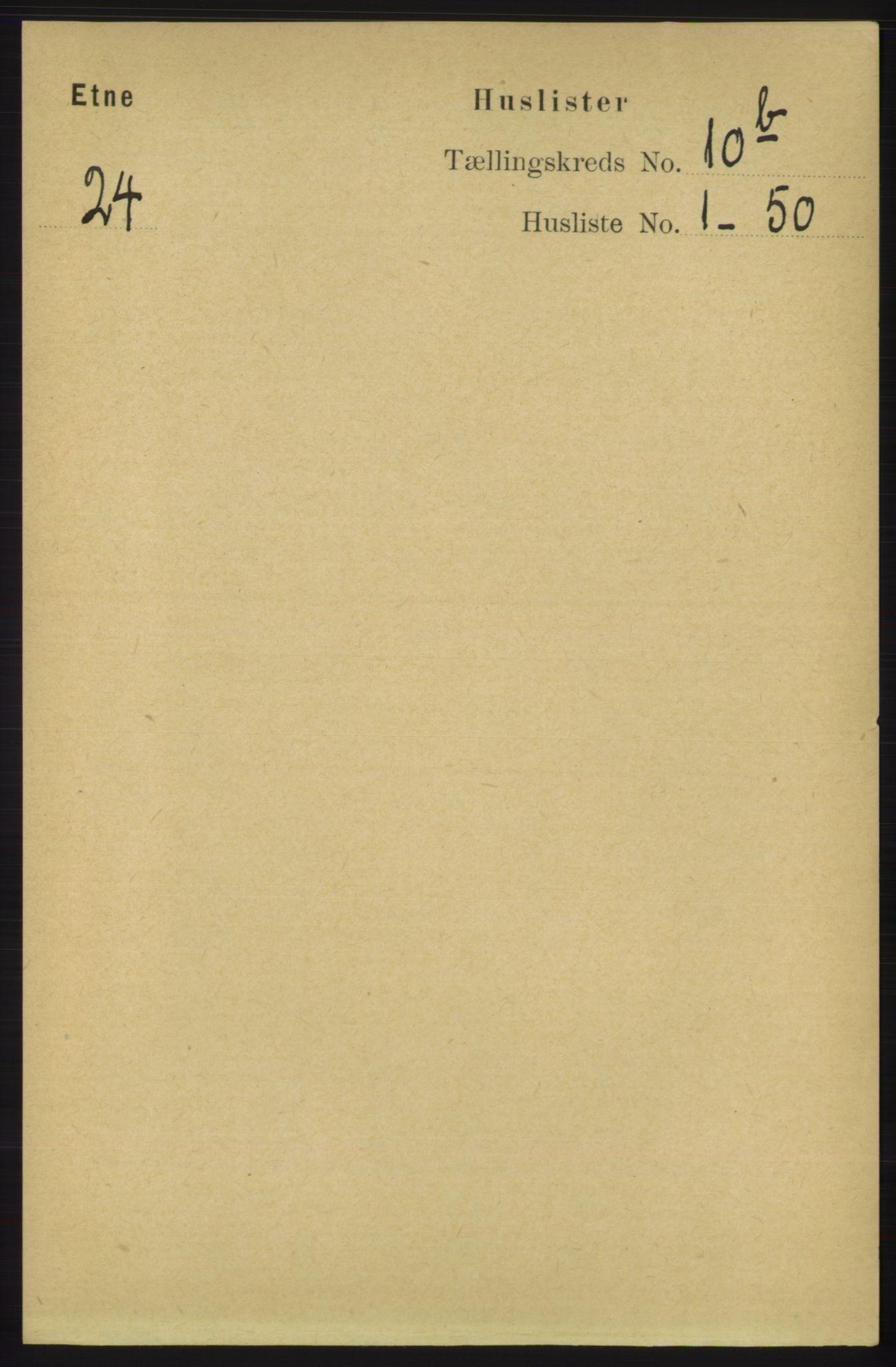 RA, Folketelling 1891 for 1211 Etne herred, 1891, s. 1952