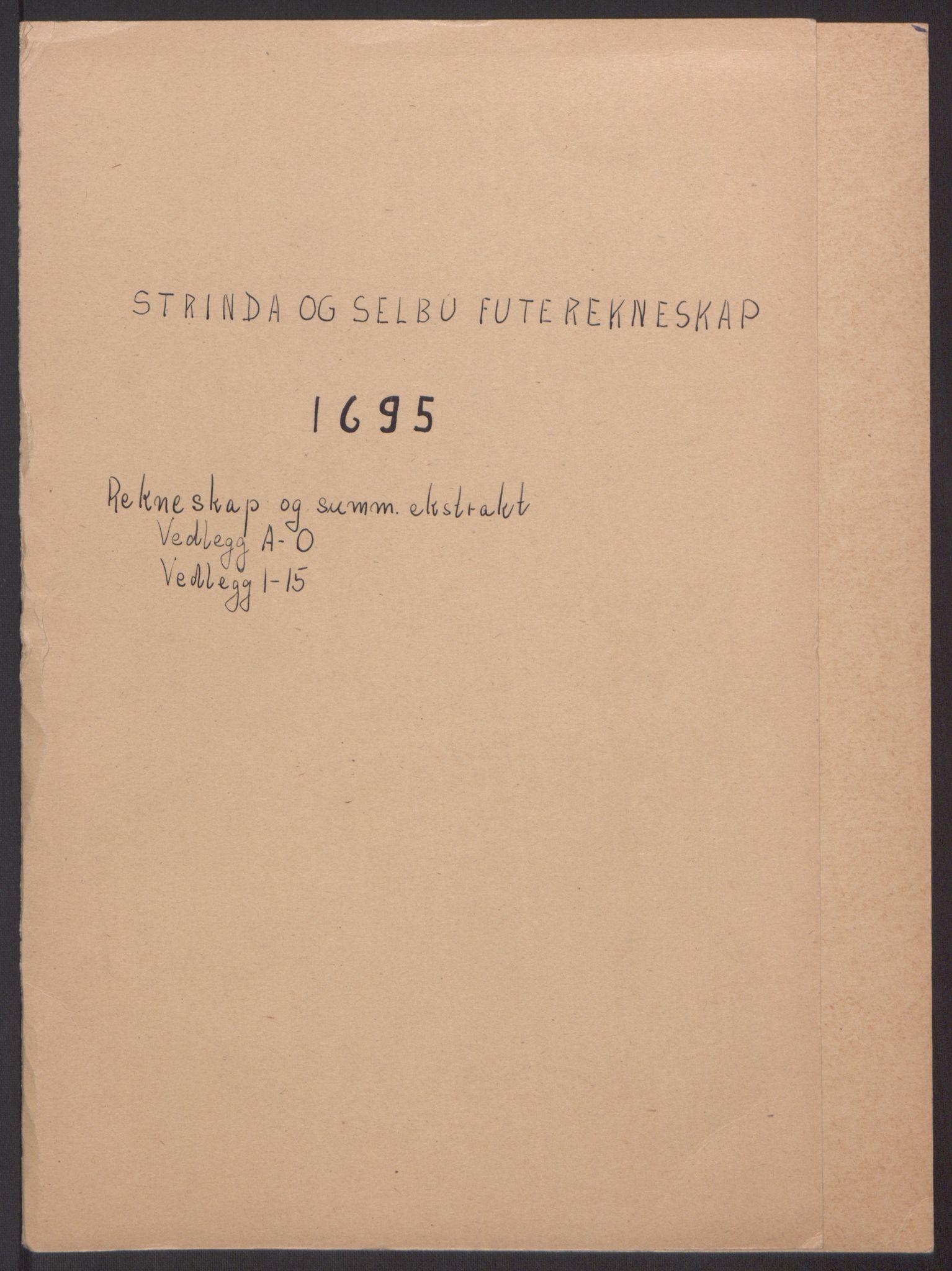 RA, Rentekammeret inntil 1814, Reviderte regnskaper, Fogderegnskap, R61/L4105: Fogderegnskap Strinda og Selbu, 1695, s. 2