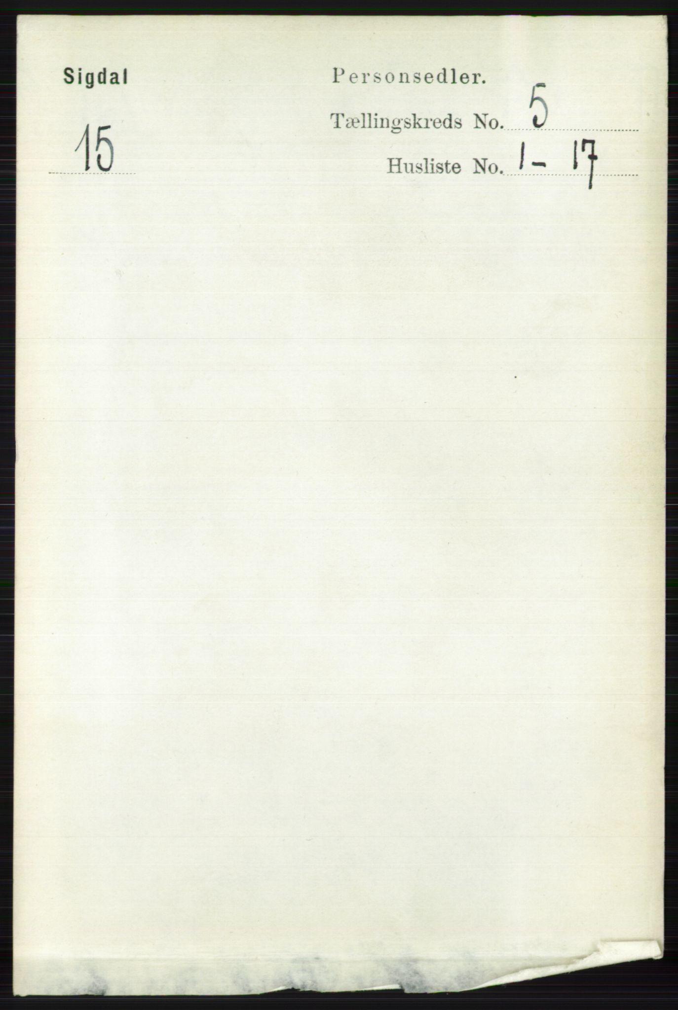 RA, Folketelling 1891 for 0621 Sigdal herred, 1891, s. 1928