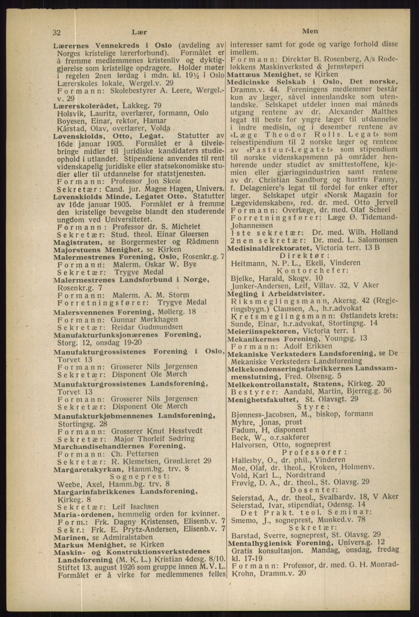 RA, Oslo adressebok (publikasjon)*, 1936, s. 32