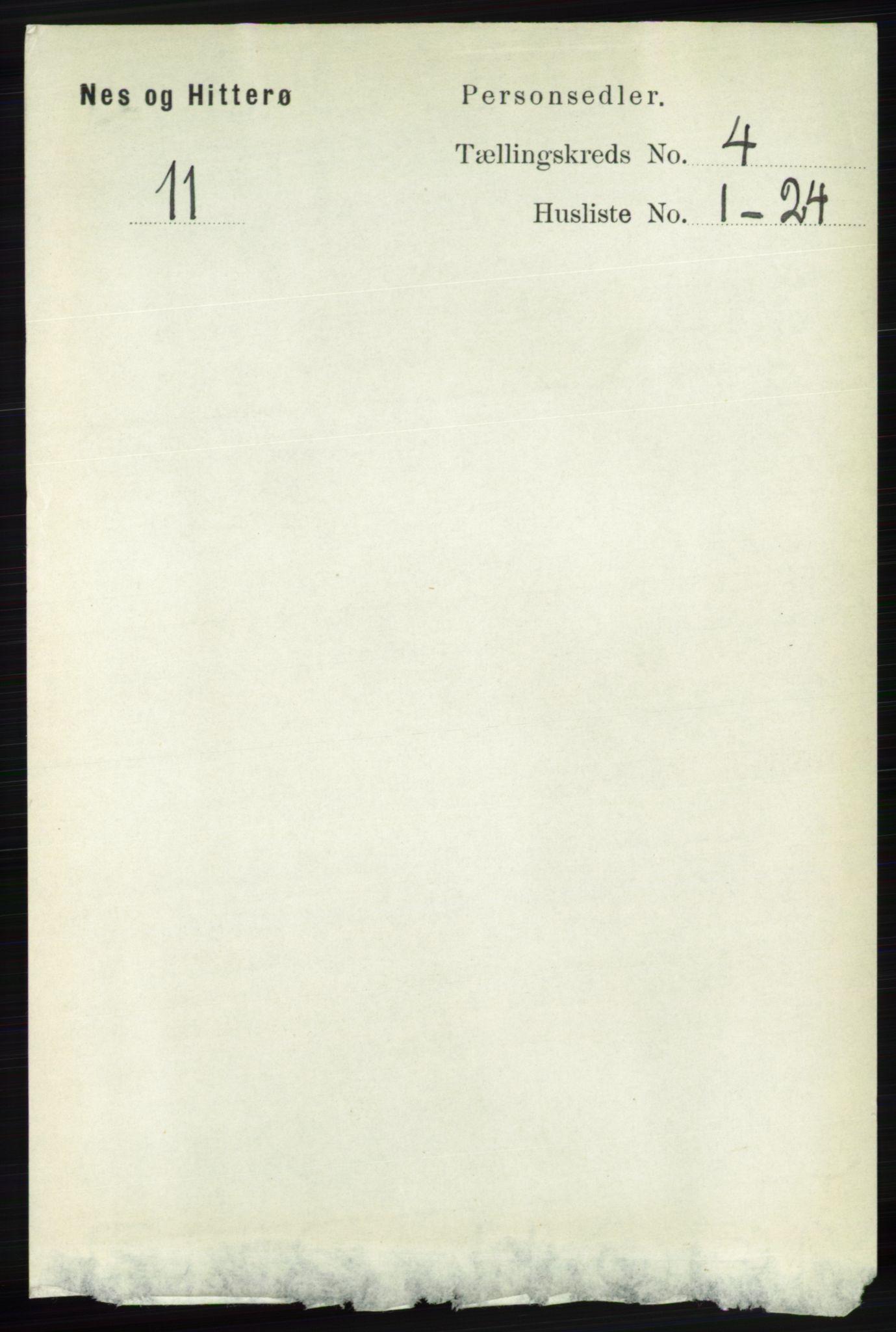 RA, Folketelling 1891 for 1043 Hidra og Nes herred, 1891, s. 1432