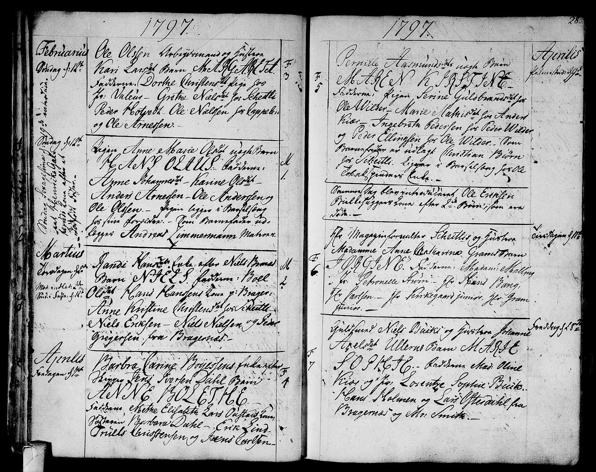 SAKO, Strømsø kirkebøker, F/Fa/L0010: Ministerialbok nr. I 10, 1792-1822, s. 28