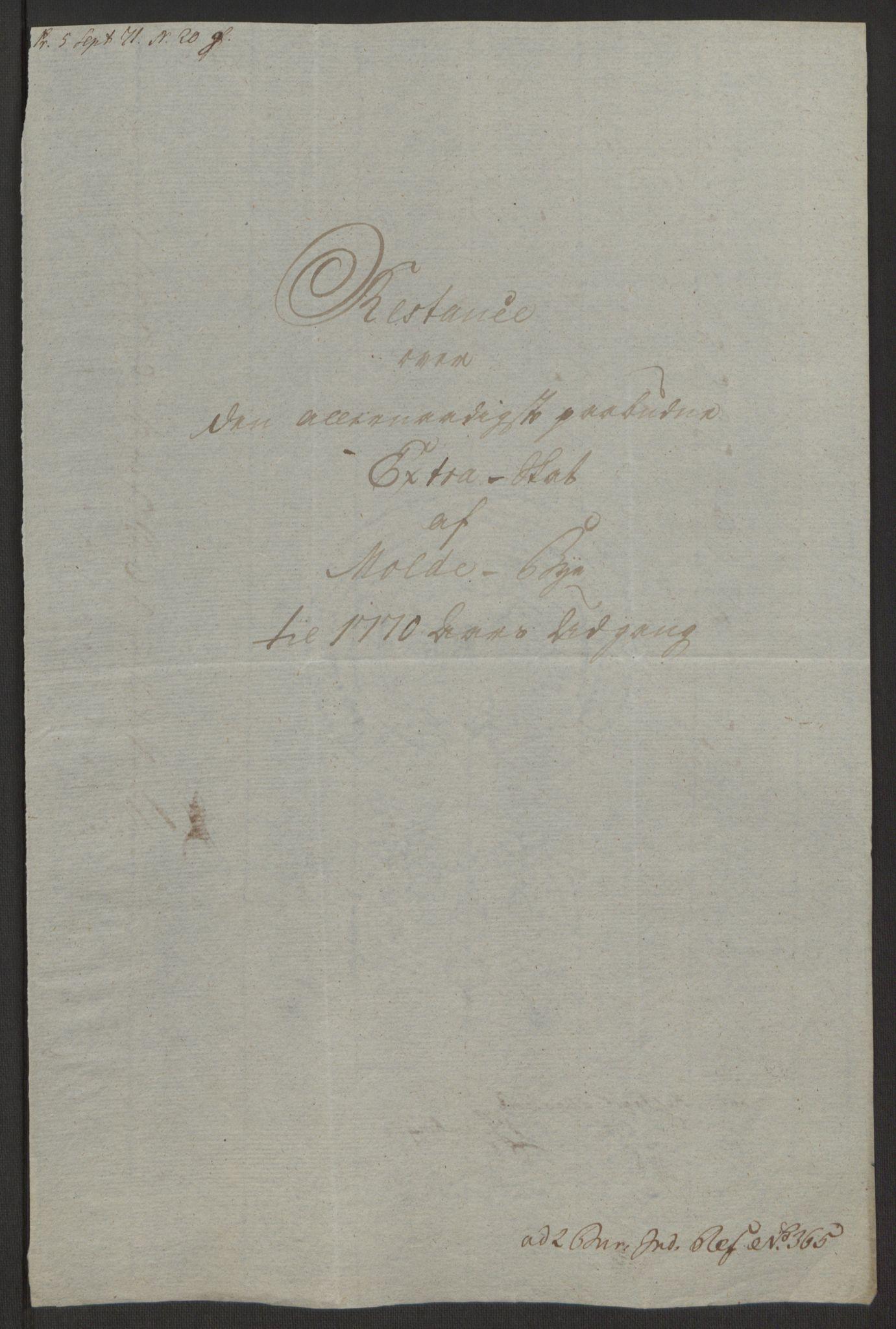 RA, Rentekammeret inntil 1814, Reviderte regnskaper, Byregnskaper, R/Rq/L0487: [Q1] Kontribusjonsregnskap, 1762-1772, s. 195