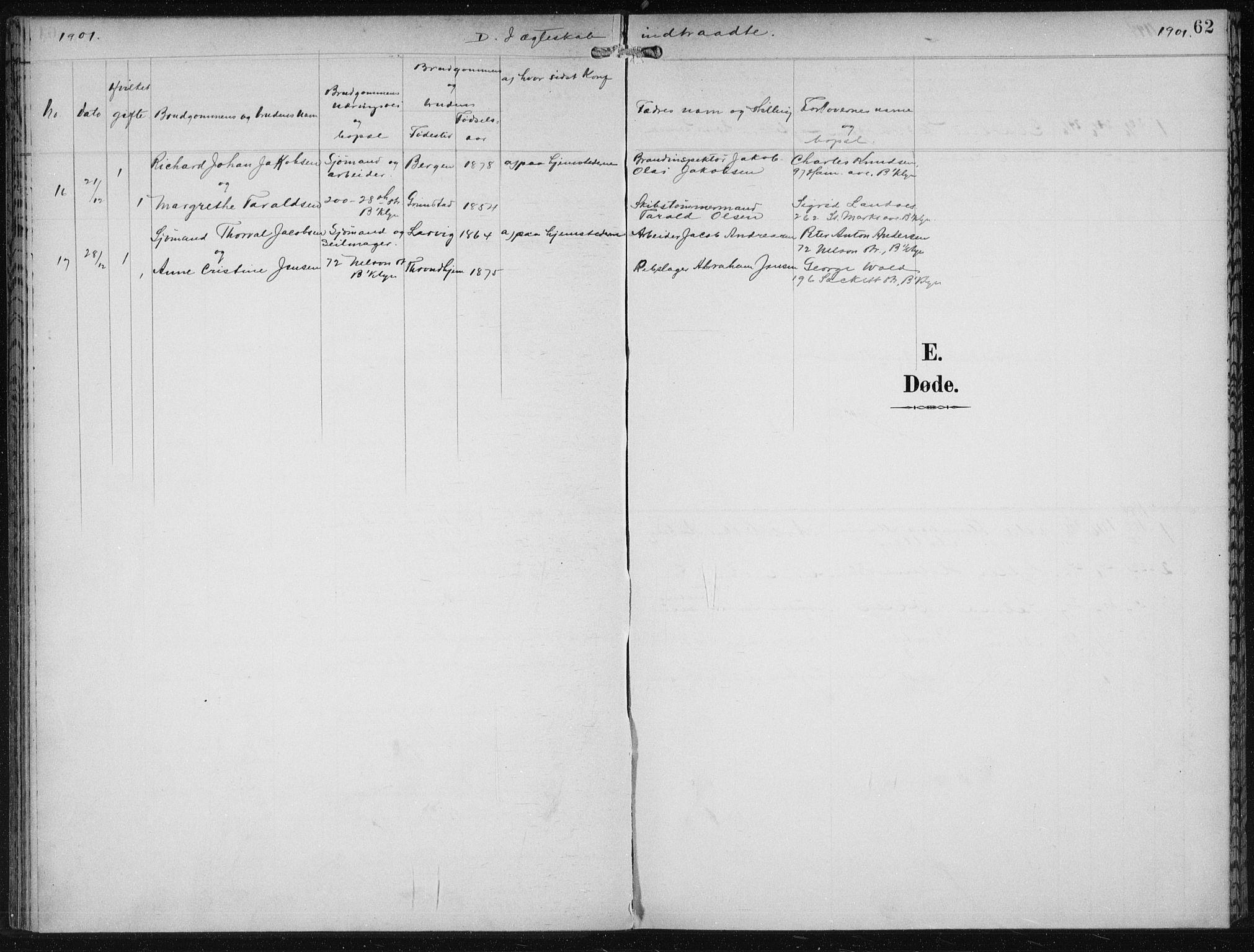 SAB, Privatarkiv 110 - Den norske sjømannsmisjon i utlandet/New York, H/Ha/L0004: Ministerialbok nr. A 4, 1893-1901, s. 62