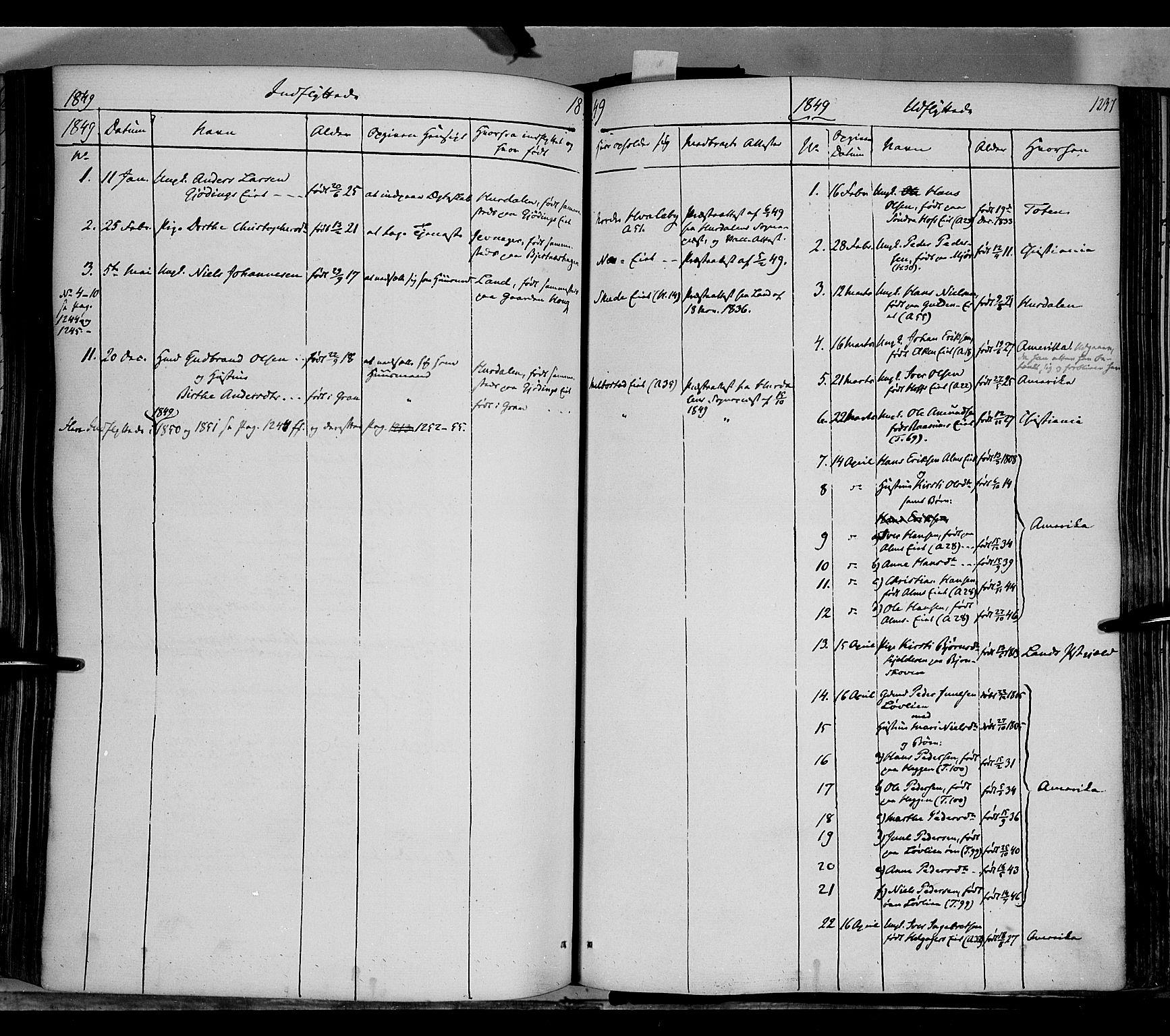 SAH, Gran prestekontor, Ministerialbok nr. 11, 1842-1856, s. 1236-1237