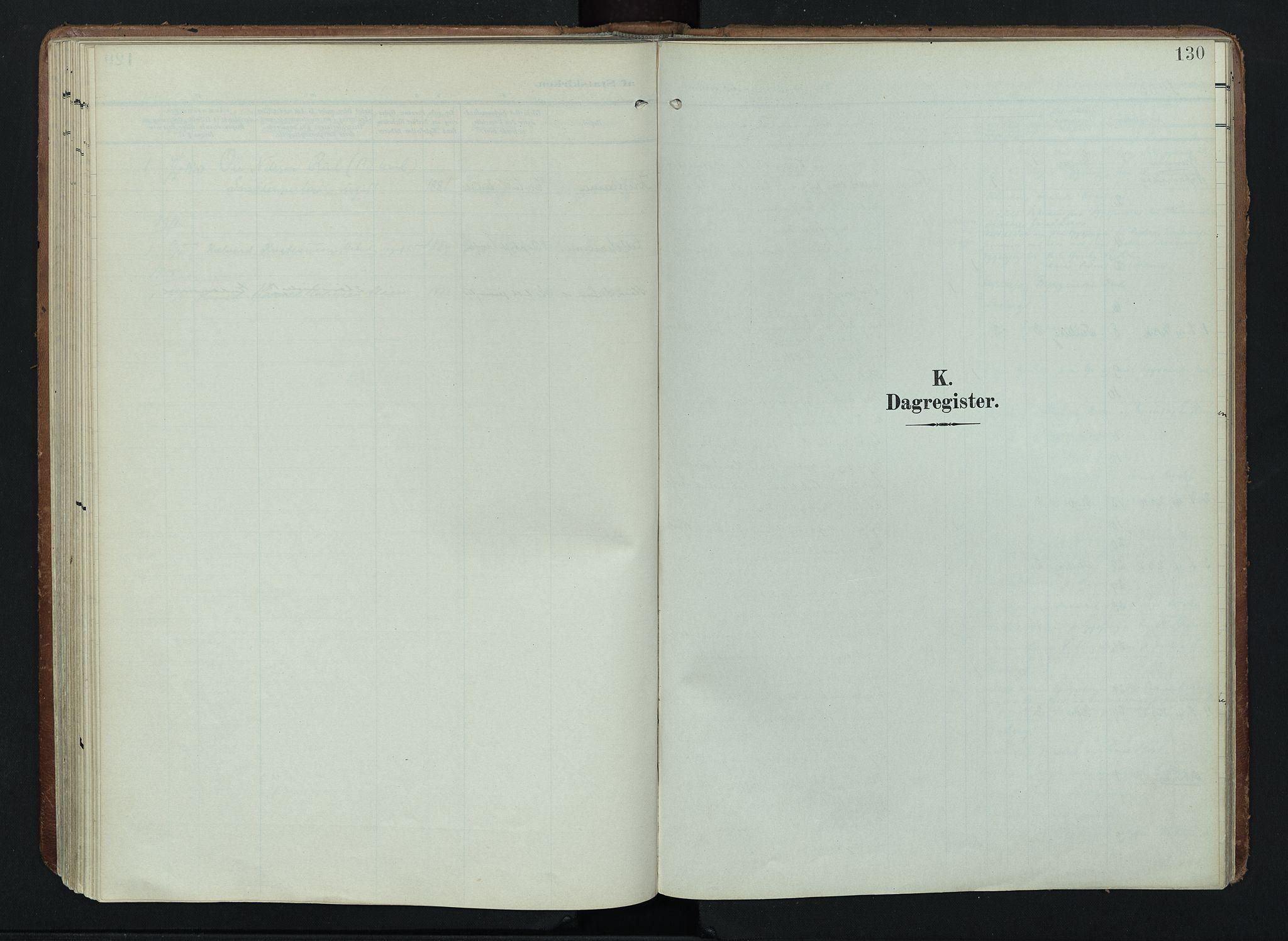 SAH, Søndre Land prestekontor, K/L0005: Ministerialbok nr. 5, 1905-1914, s. 130