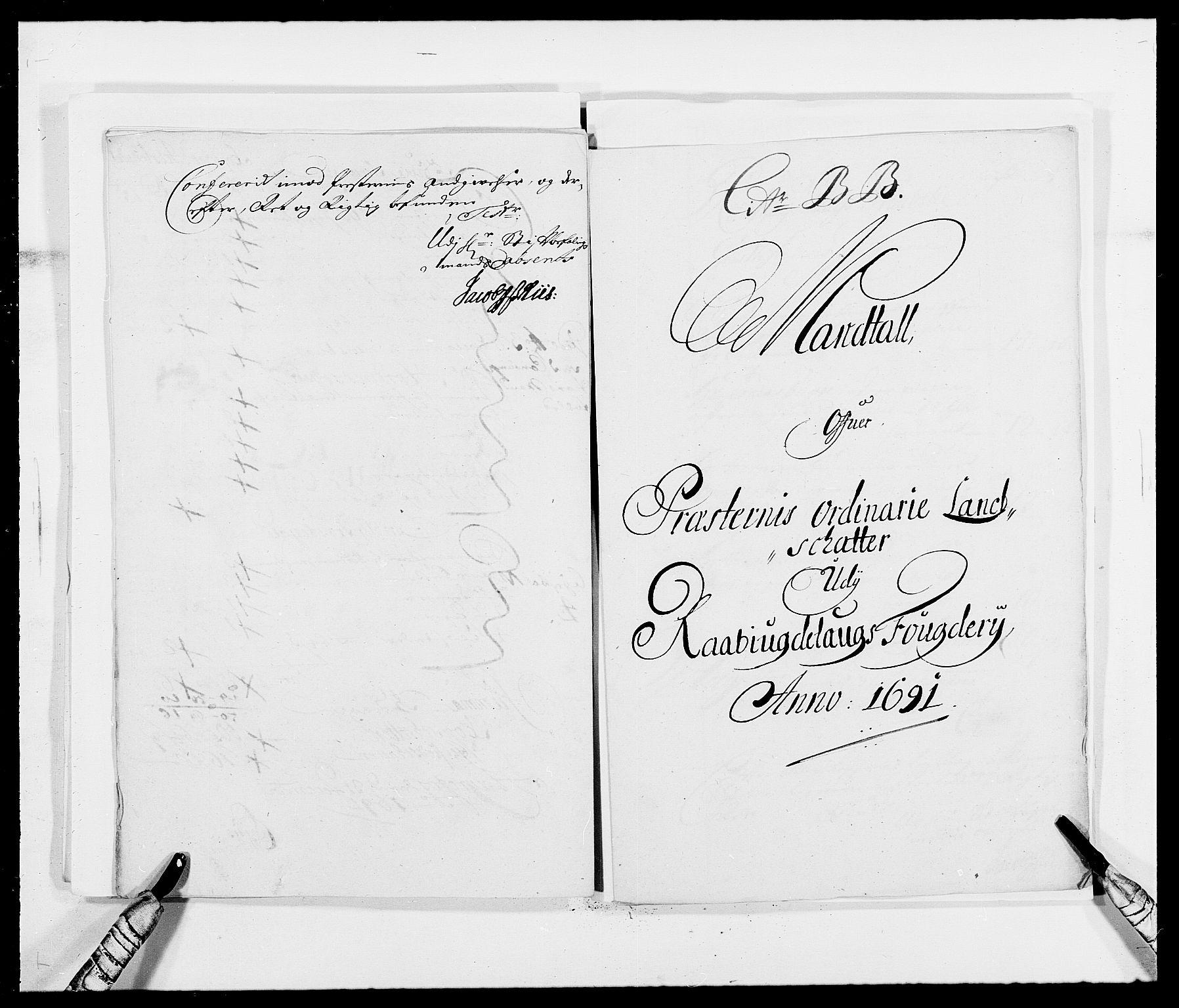 RA, Rentekammeret inntil 1814, Reviderte regnskaper, Fogderegnskap, R40/L2443: Fogderegnskap Råbyggelag, 1691-1692, s. 70