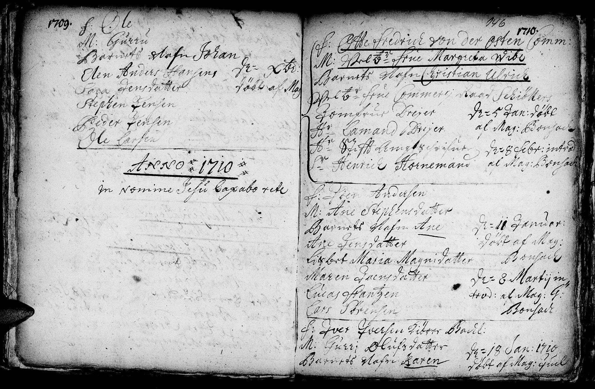 SAT, Ministerialprotokoller, klokkerbøker og fødselsregistre - Sør-Trøndelag, 601/L0034: Ministerialbok nr. 601A02, 1702-1714, s. 146