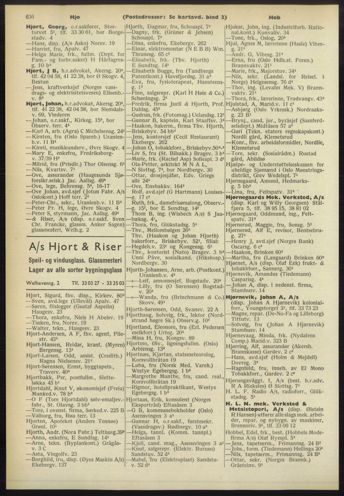 RA, Oslo adressebok (publikasjon)*, 1960-1961, s. 636