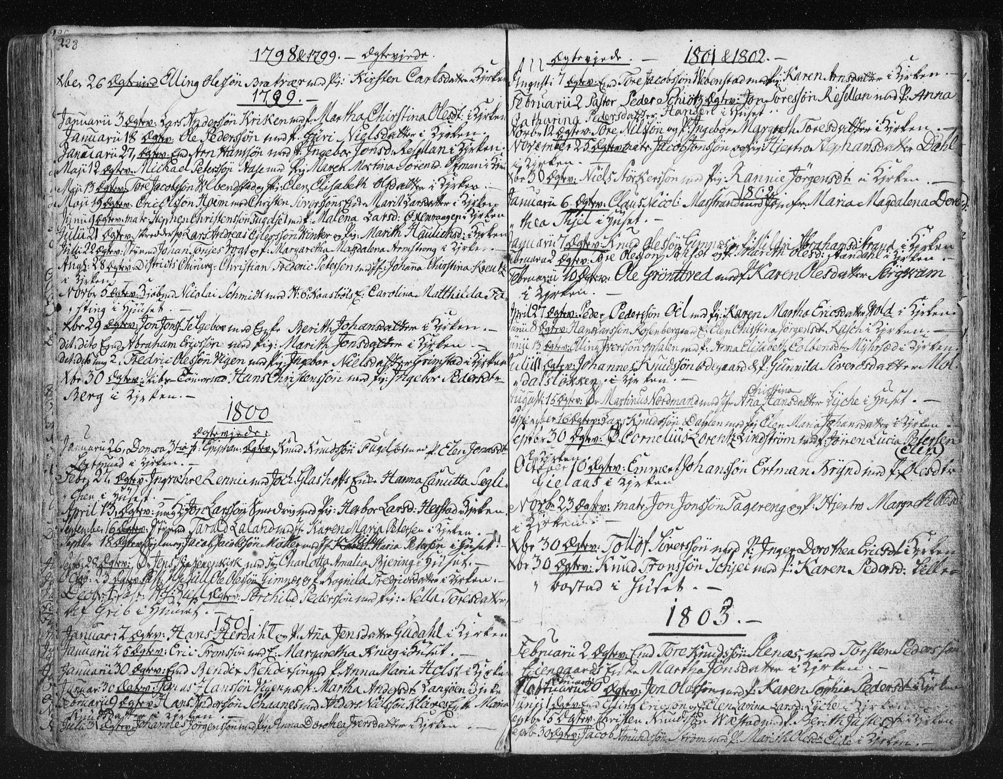 SAT, Ministerialprotokoller, klokkerbøker og fødselsregistre - Møre og Romsdal, 572/L0841: Ministerialbok nr. 572A04, 1784-1819, s. 228