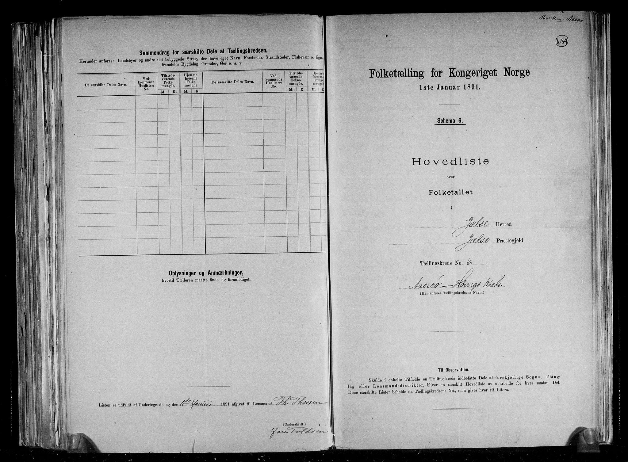 RA, Folketelling 1891 for 1138 Jelsa herred, 1891, s. 16