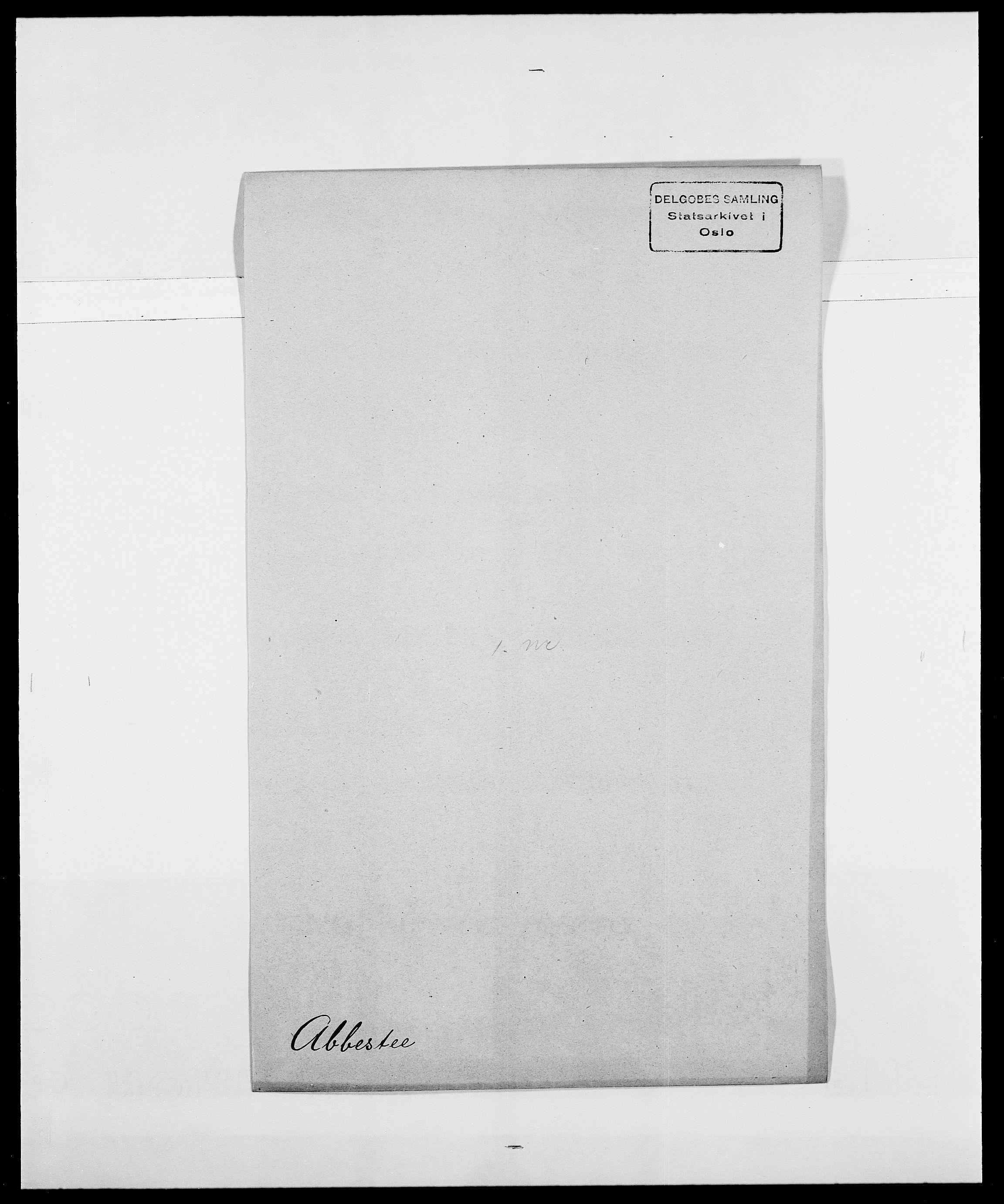 SAO, Delgobe, Charles Antoine - samling, D/Da/L0001: Aabye - Angerman, s. 167