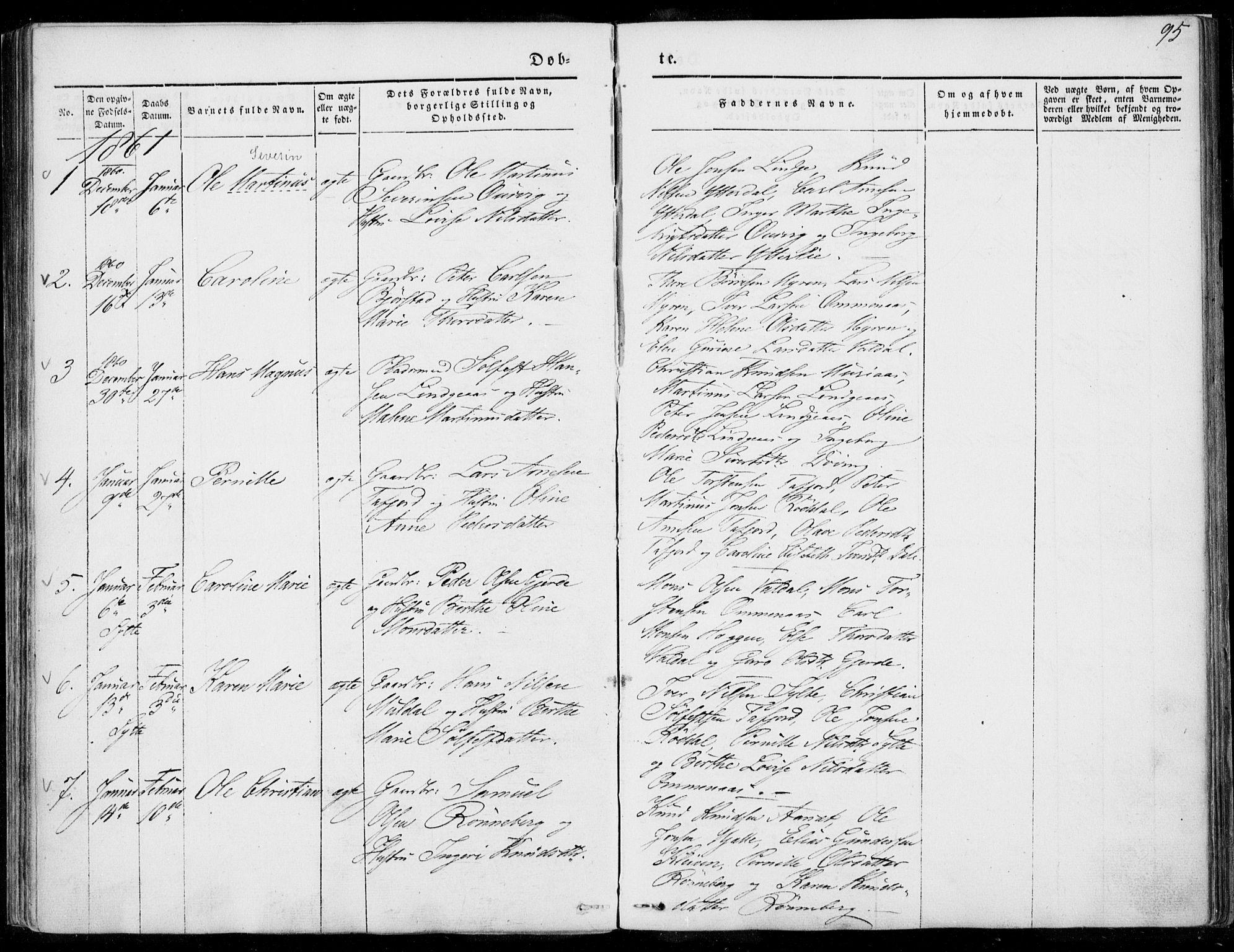 SAT, Ministerialprotokoller, klokkerbøker og fødselsregistre - Møre og Romsdal, 519/L0249: Ministerialbok nr. 519A08, 1846-1868, s. 95