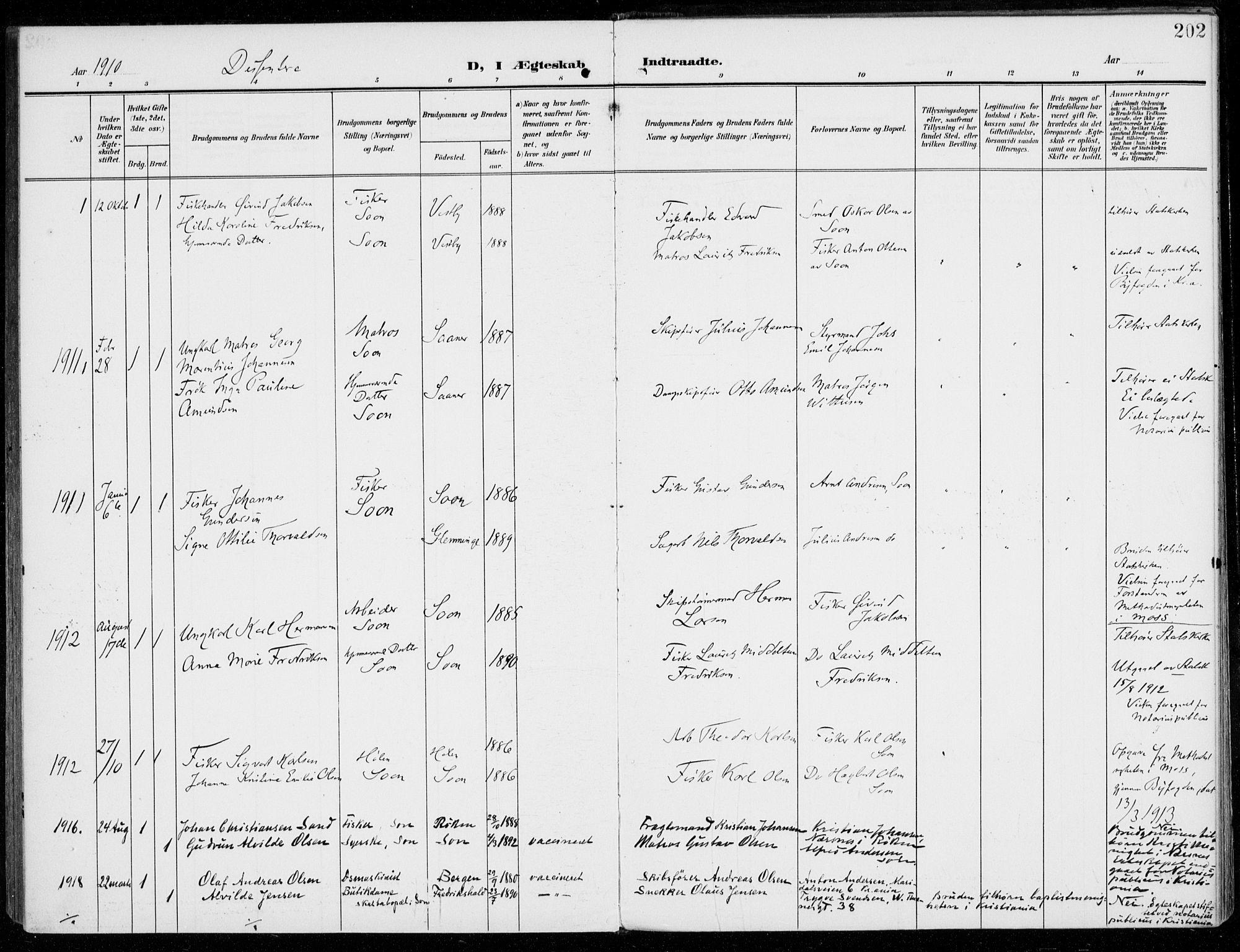 SAO, Vestby prestekontor Kirkebøker, F/Fc/L0002: Ministerialbok nr. III 2, 1906-1940, s. 202