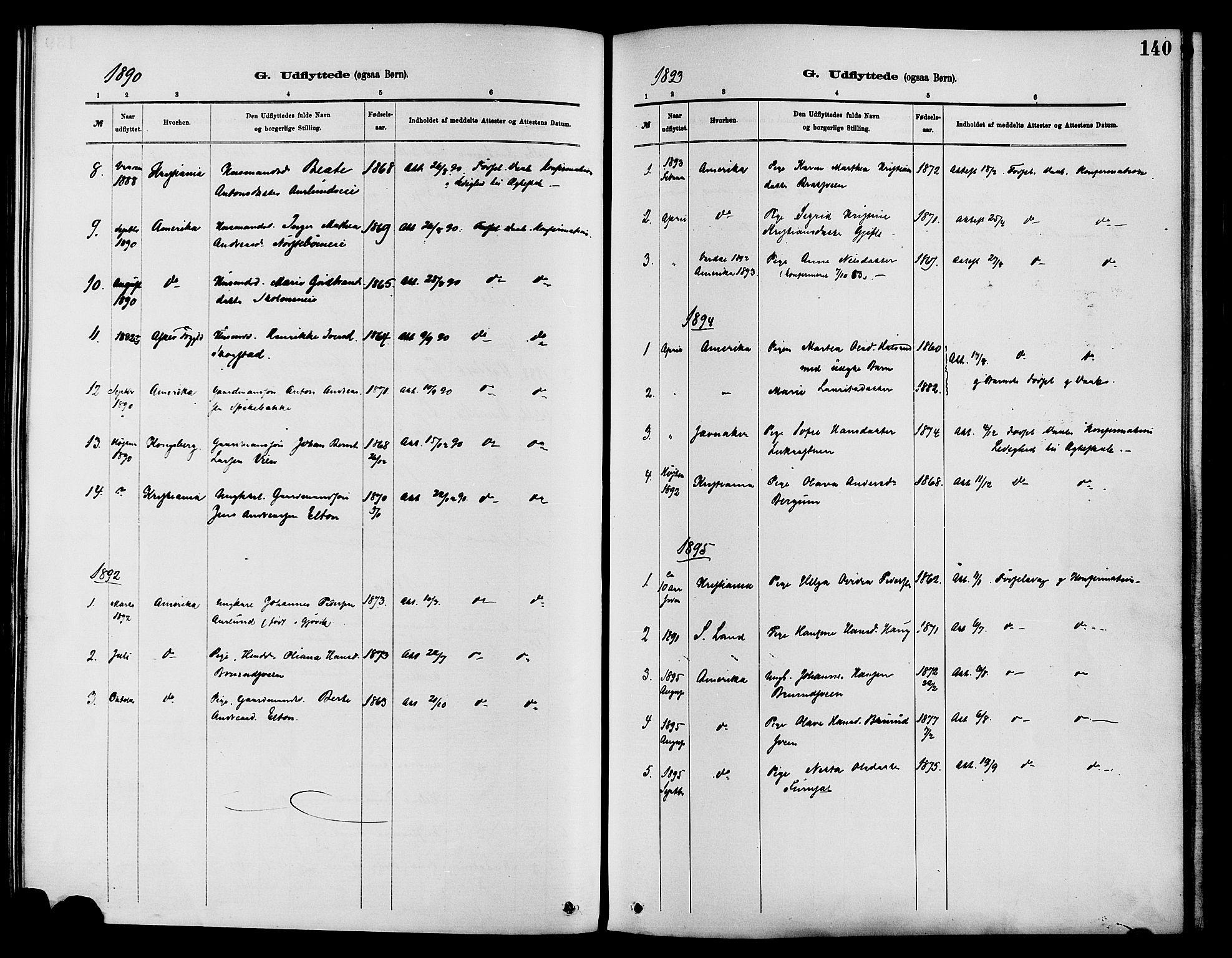 SAH, Nordre Land prestekontor, Ministerialbok nr. 3, 1882-1896, s. 140