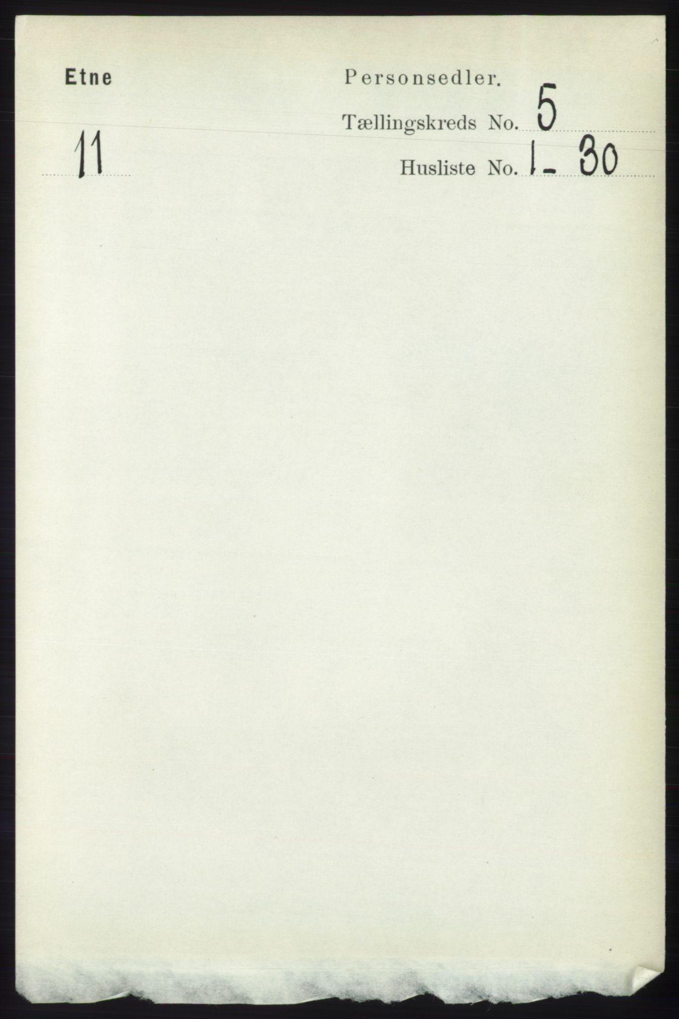 RA, Folketelling 1891 for 1211 Etne herred, 1891, s. 1018